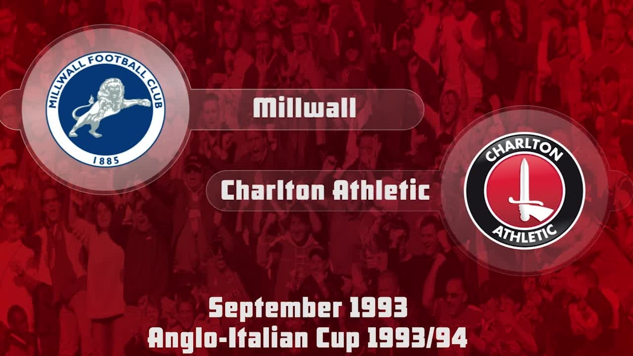 07 HIGHLIGHTS | Millwall 2 Charlton 2 (Anglo-Italian Cup Sept 1993)