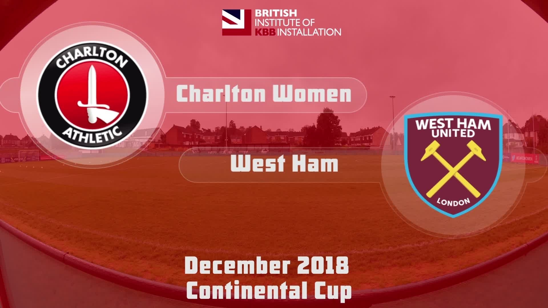 WOMEN'S HIGHLIGHTS | Charton 0 West Ham 2 (Continental Cup Dec 2018)