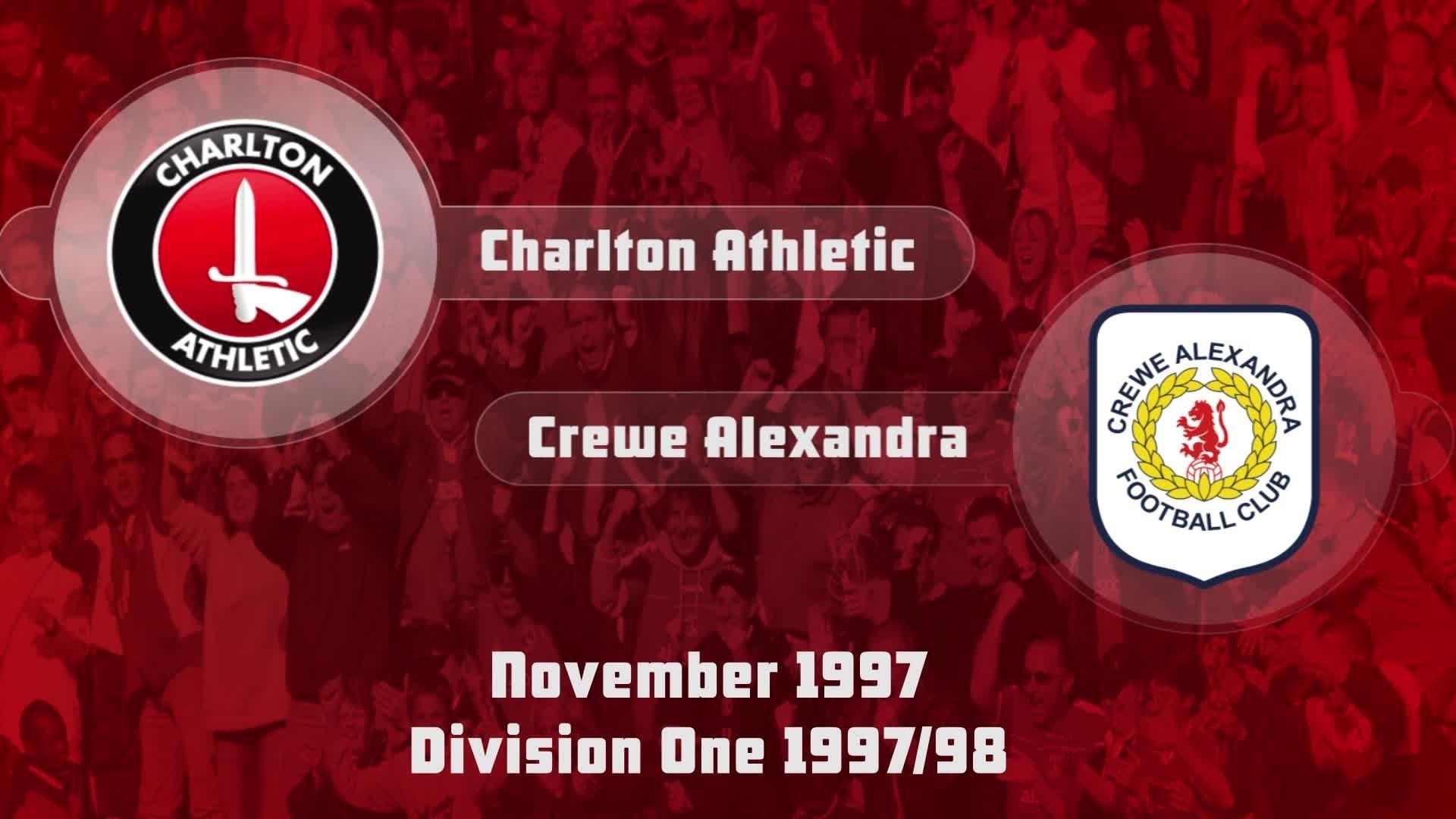 19 HIGHLIGHTS | Charlton 3 Crewe 2 (Nov 1997)