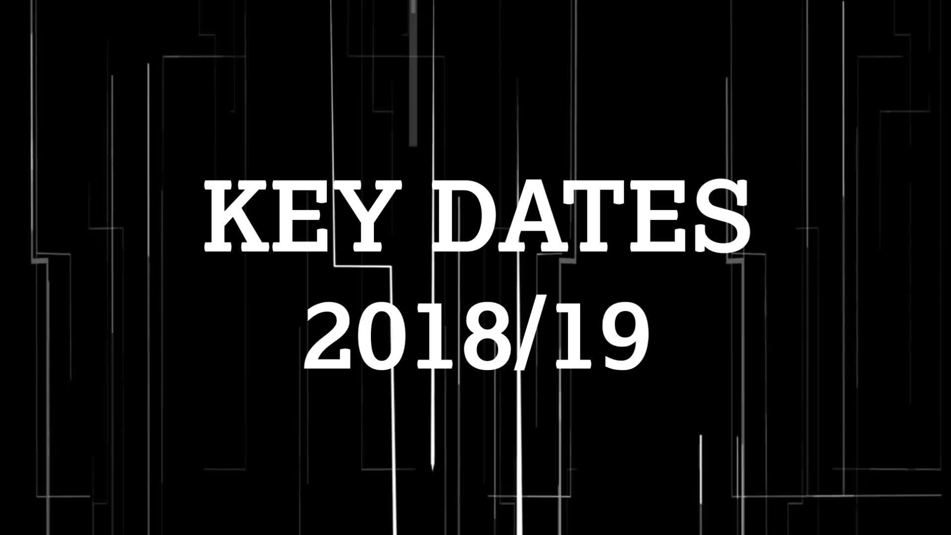 KEY DATES | Fixtures 2018/19