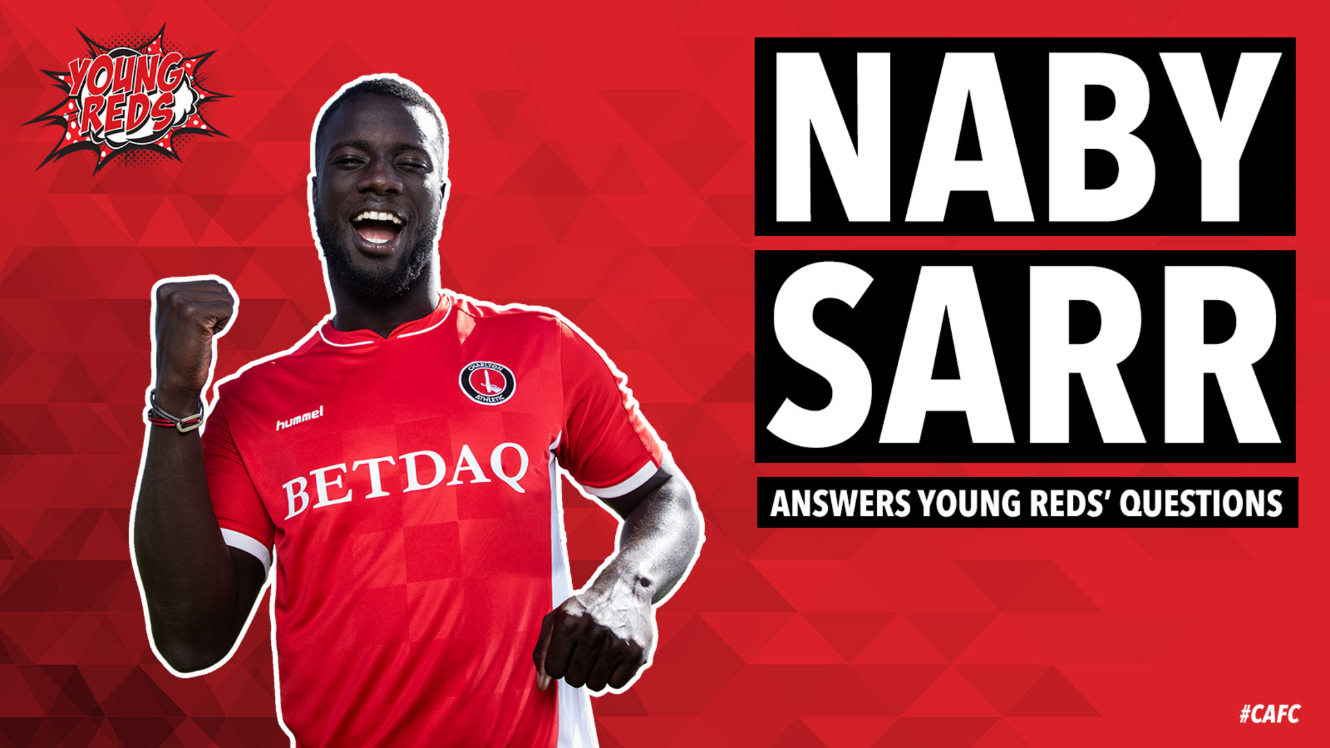 Naby Sarr answers questions from Charlton's Young Reds
