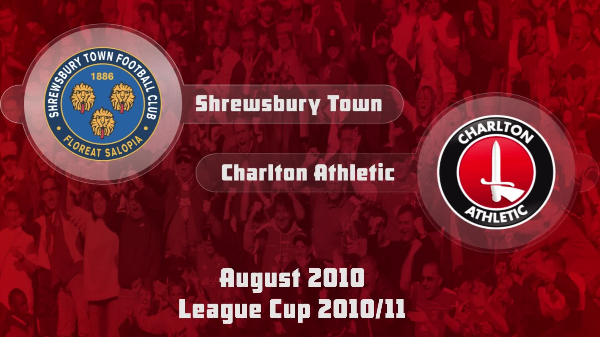 02 HIGHLIGHTS | Shrewsbury 4 Charlton 3 (League Cup Aug 2010)