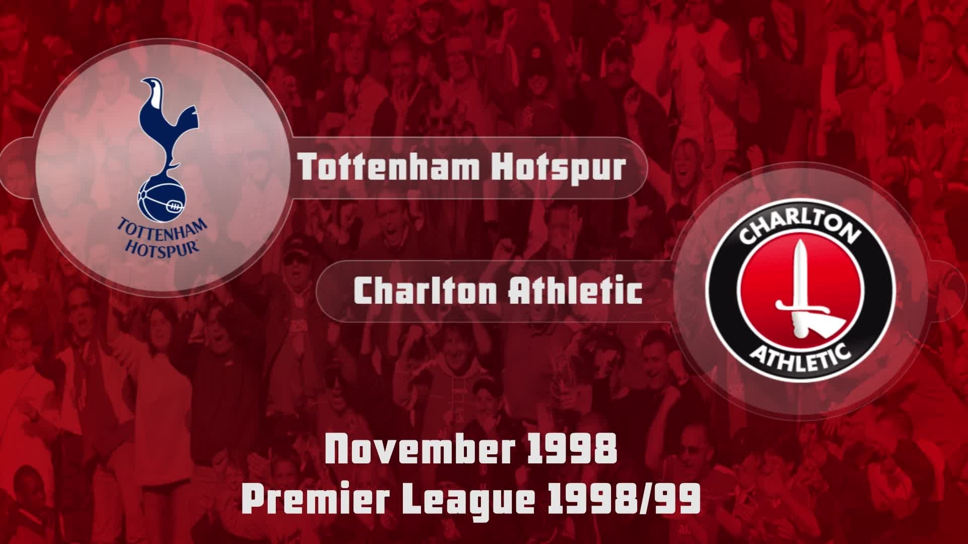 14 HIGHLIGHTS | Tottenham 2 Charlton 2 (Nov 1998)