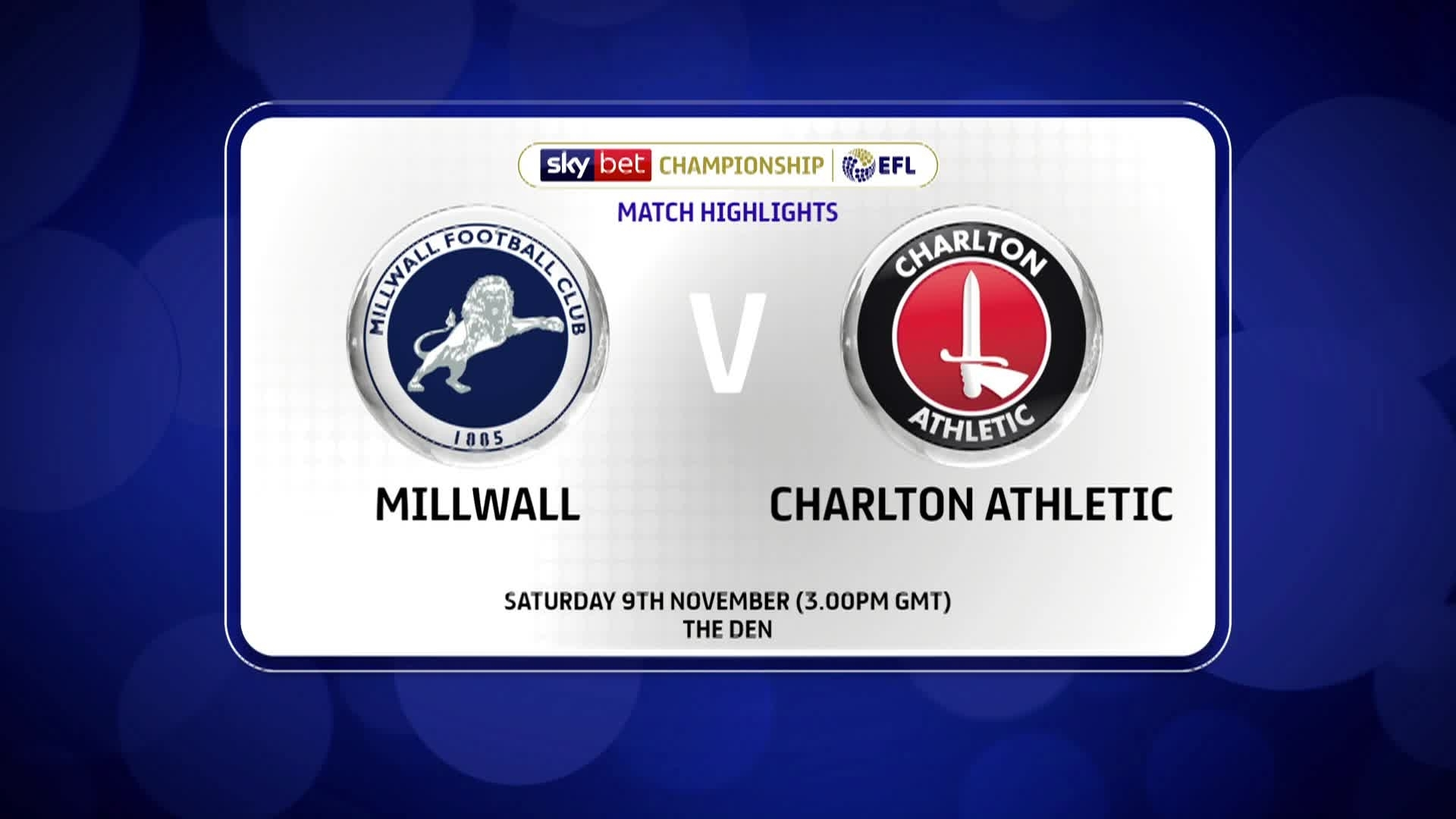 GOALS | Millwall 2 Charlton 1 (November 2019)