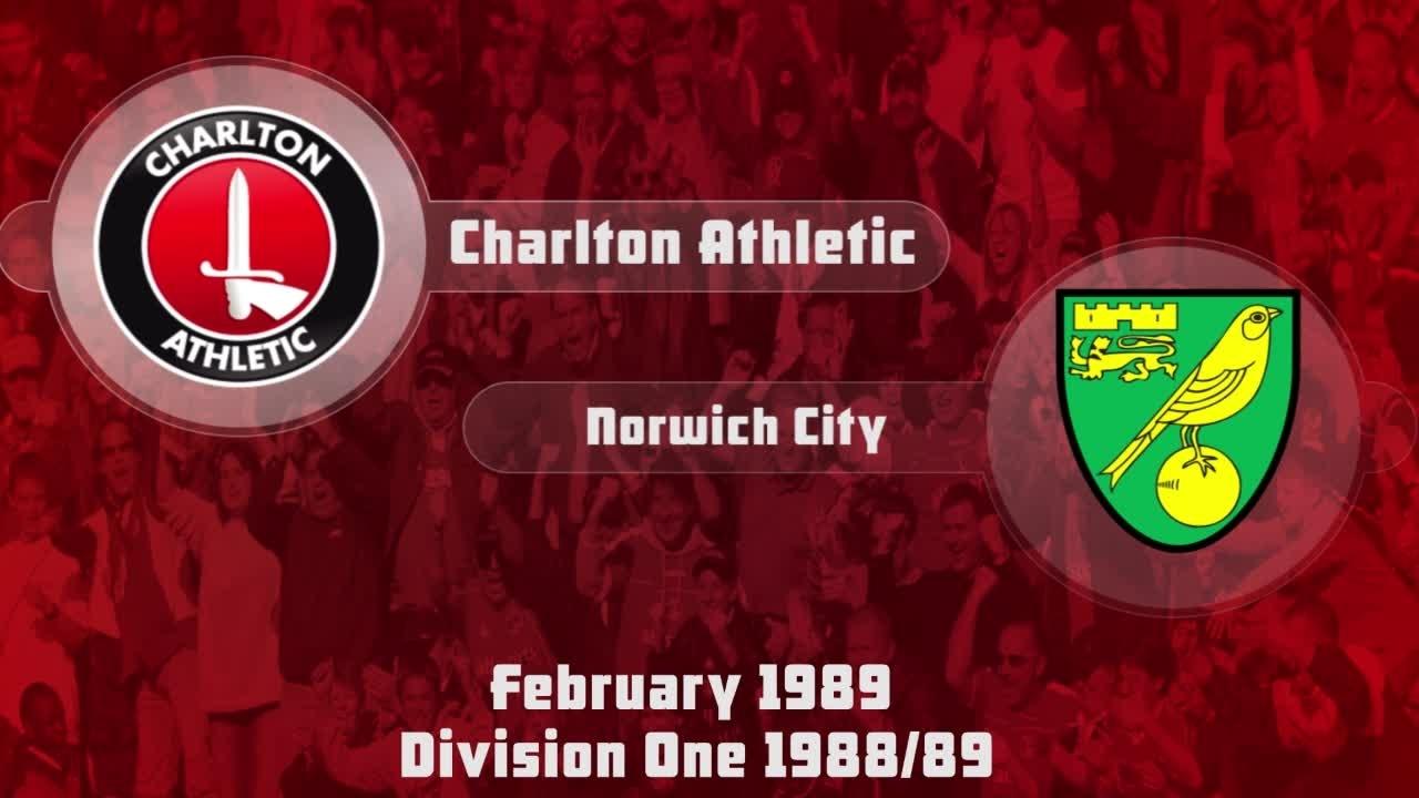 29 HIGHLIGHTS | Charlton 1 Norwich 2 (Feb 1989)