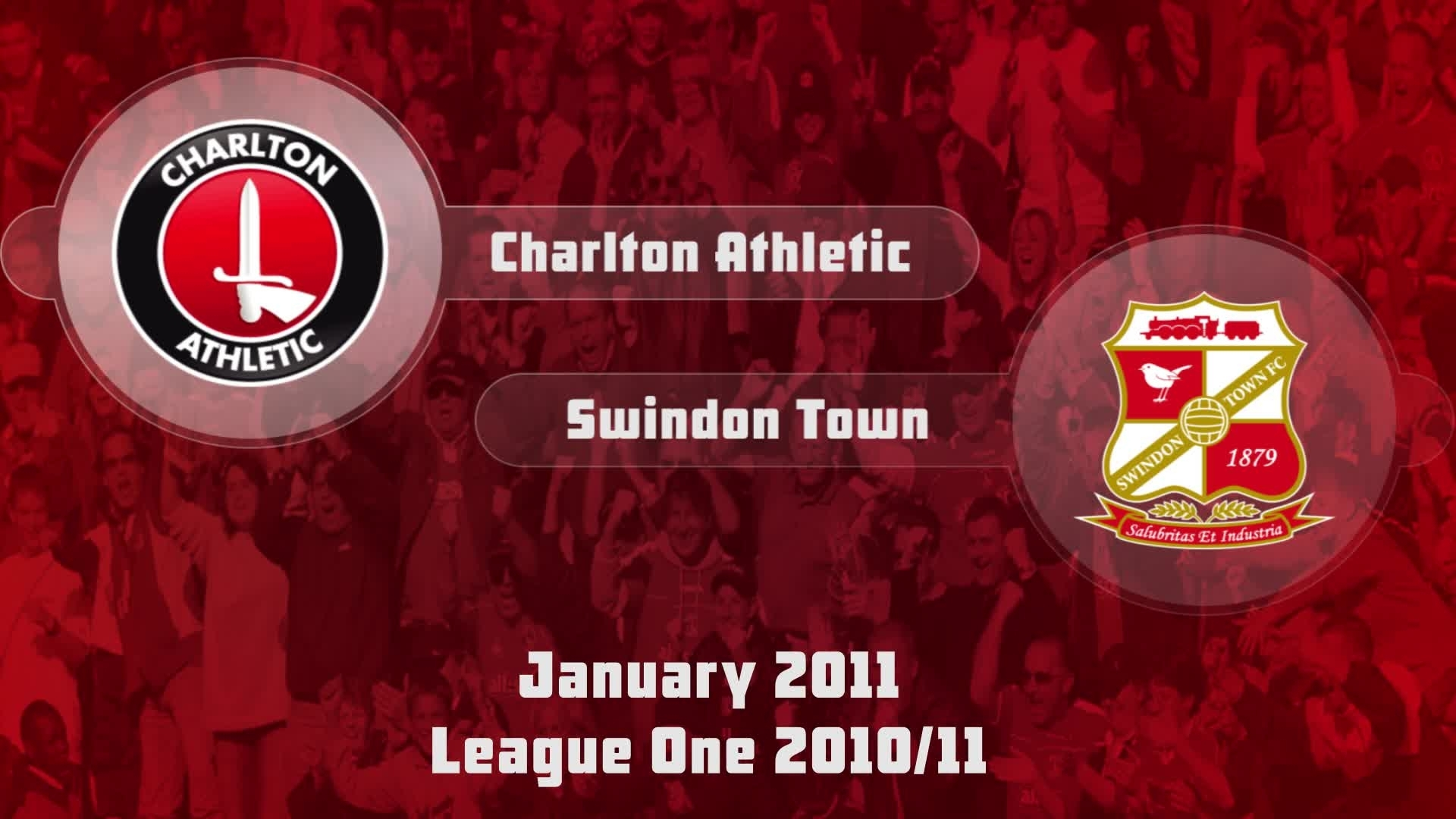 31 HIGHLIGHTS | Charlton 2 Swindon 4 (Jan 2011)
