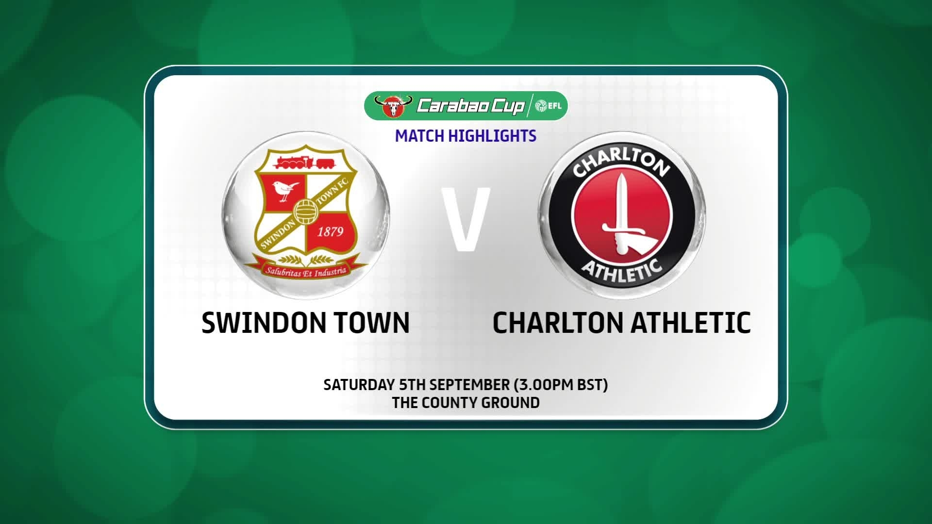 HIGHLIGHTS | Swindon 1 Charlton 3 (September 2020)