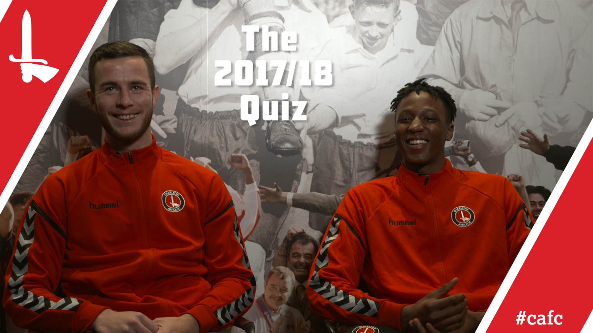 Harry Lennon and Joe Aribo compete in the 2017/18 quiz