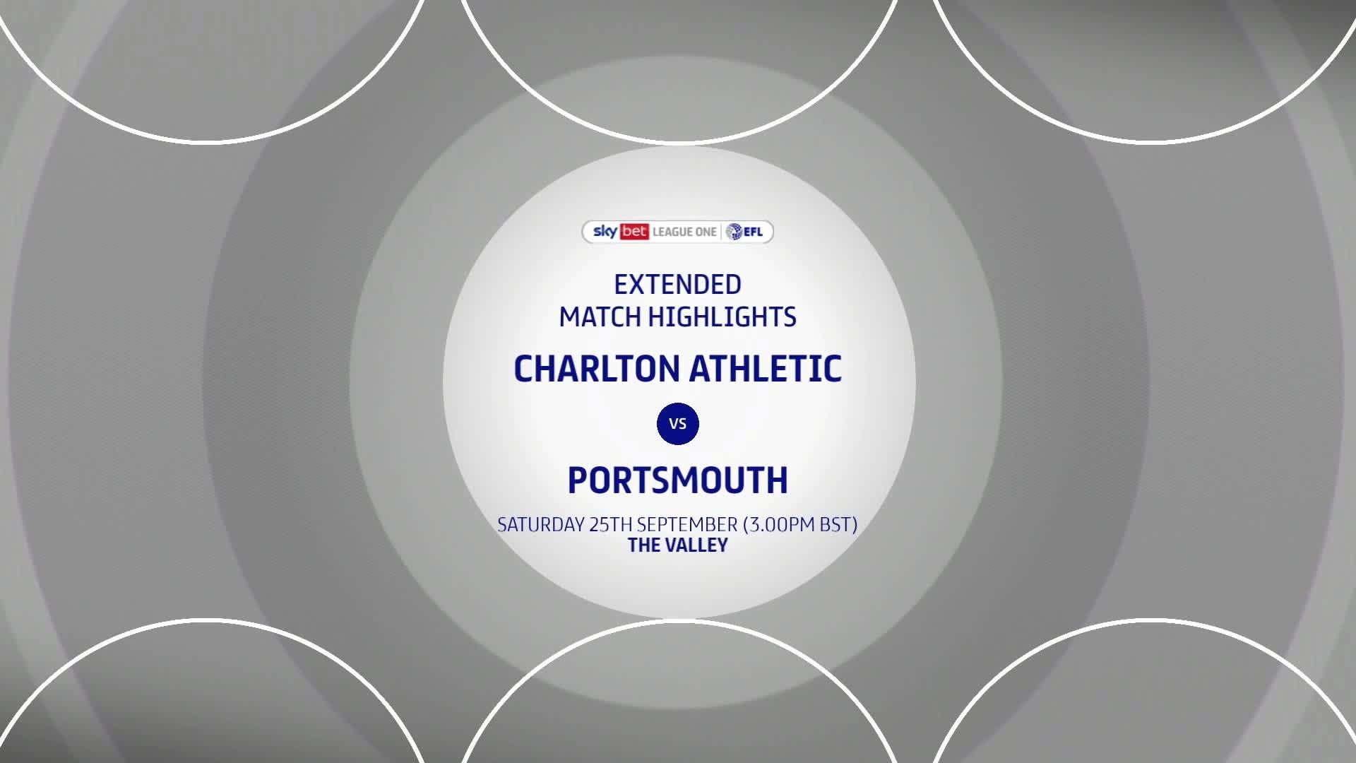 HIGHLIGHTS | Charlton 2 Portsmouth 2 (September 2021)