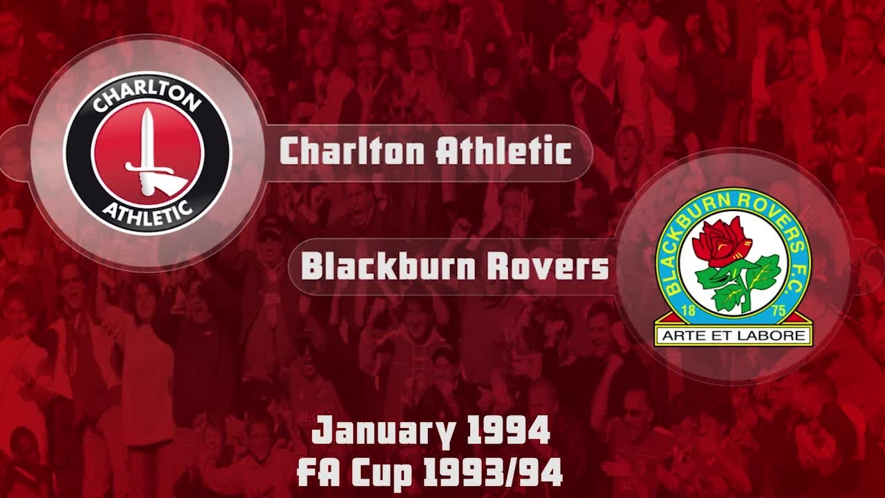 37 HIGHLIGHTS | Charlton 0 Blackburn 0 (FA Cup Jan 1994)