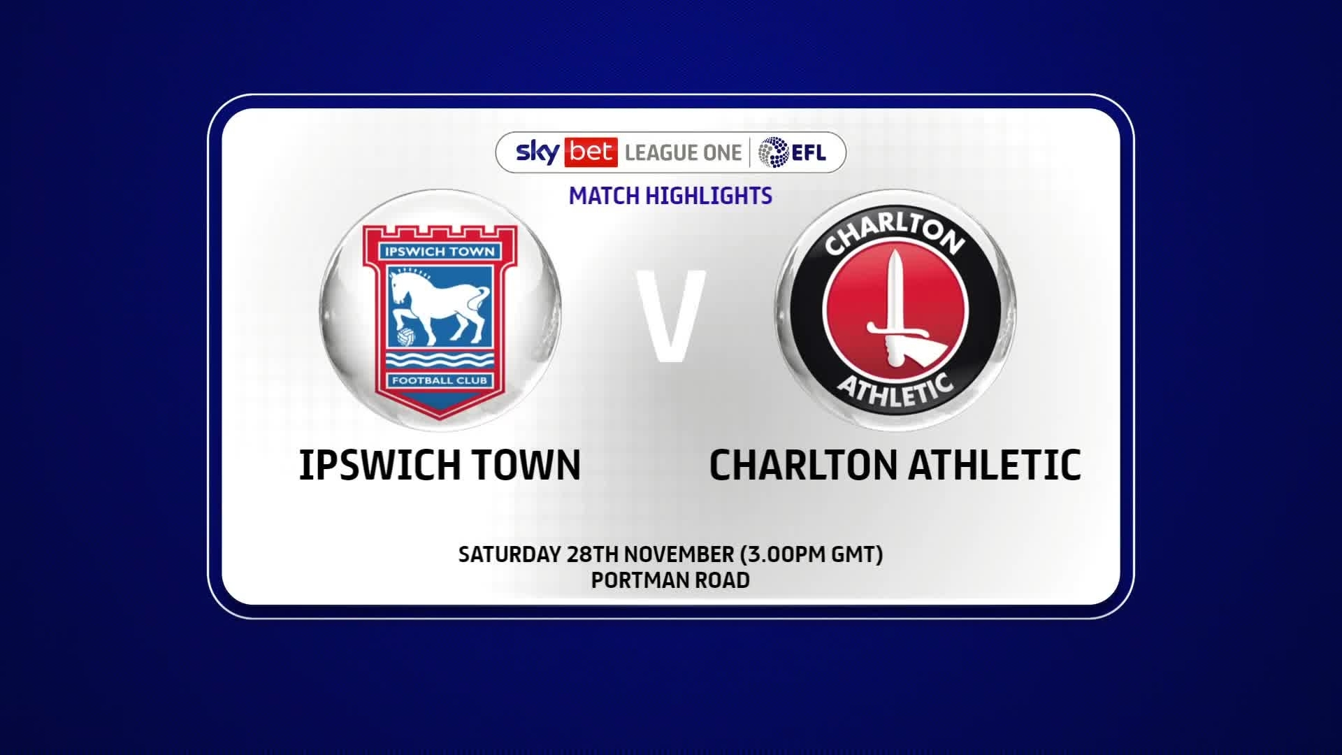 HIGHLIGHTS | Ipswich Town 0 Charlton 2 (November 2020)