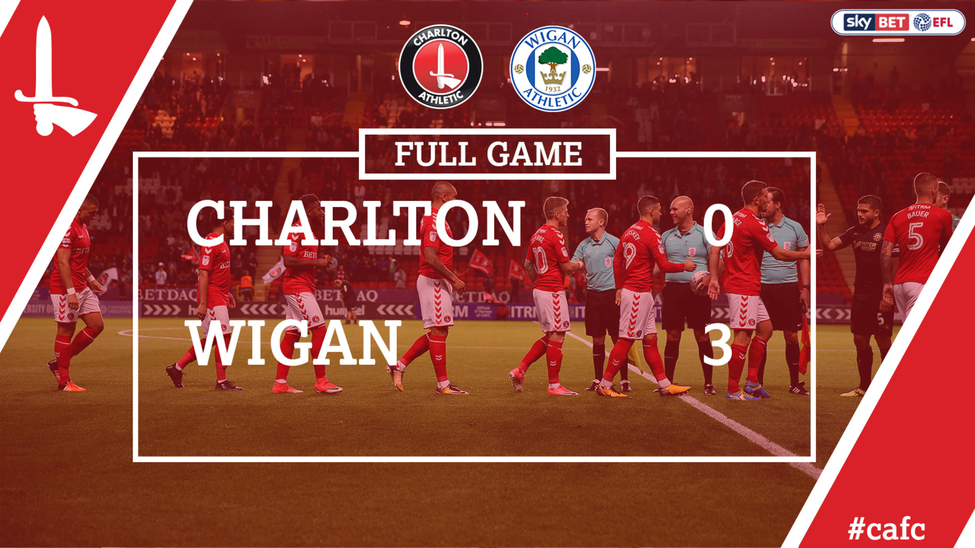 FULL GAME | Charlton 0 Wigan 3