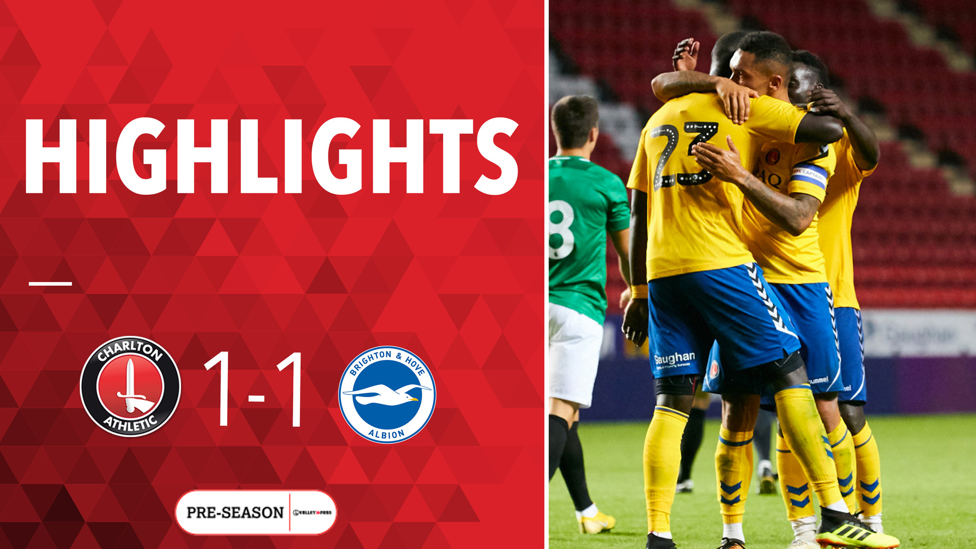 HIGHLIGHTS | Charlton 1 Brighton & Hove 1 (Pre-season July 2018)