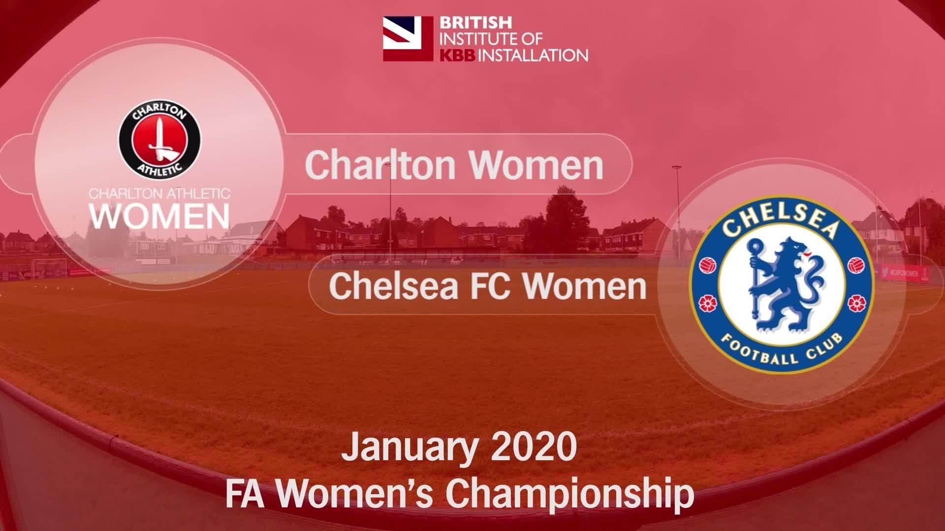 WOMEN'S HIGHLIGHTS | Charlton Women 0 Chelsea 4 (January 2020)