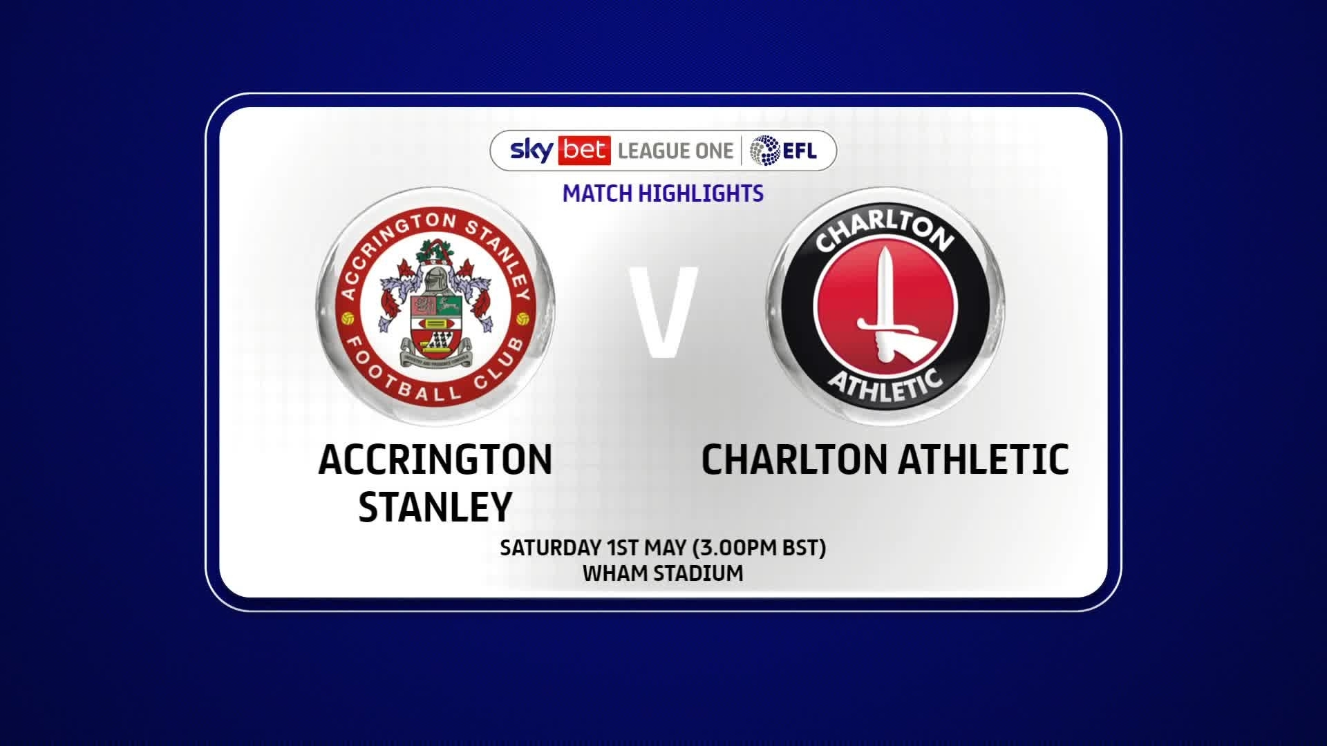 HIGHLIGHTS | Accrington Stanley 1 Charlton 1 (May 2021)