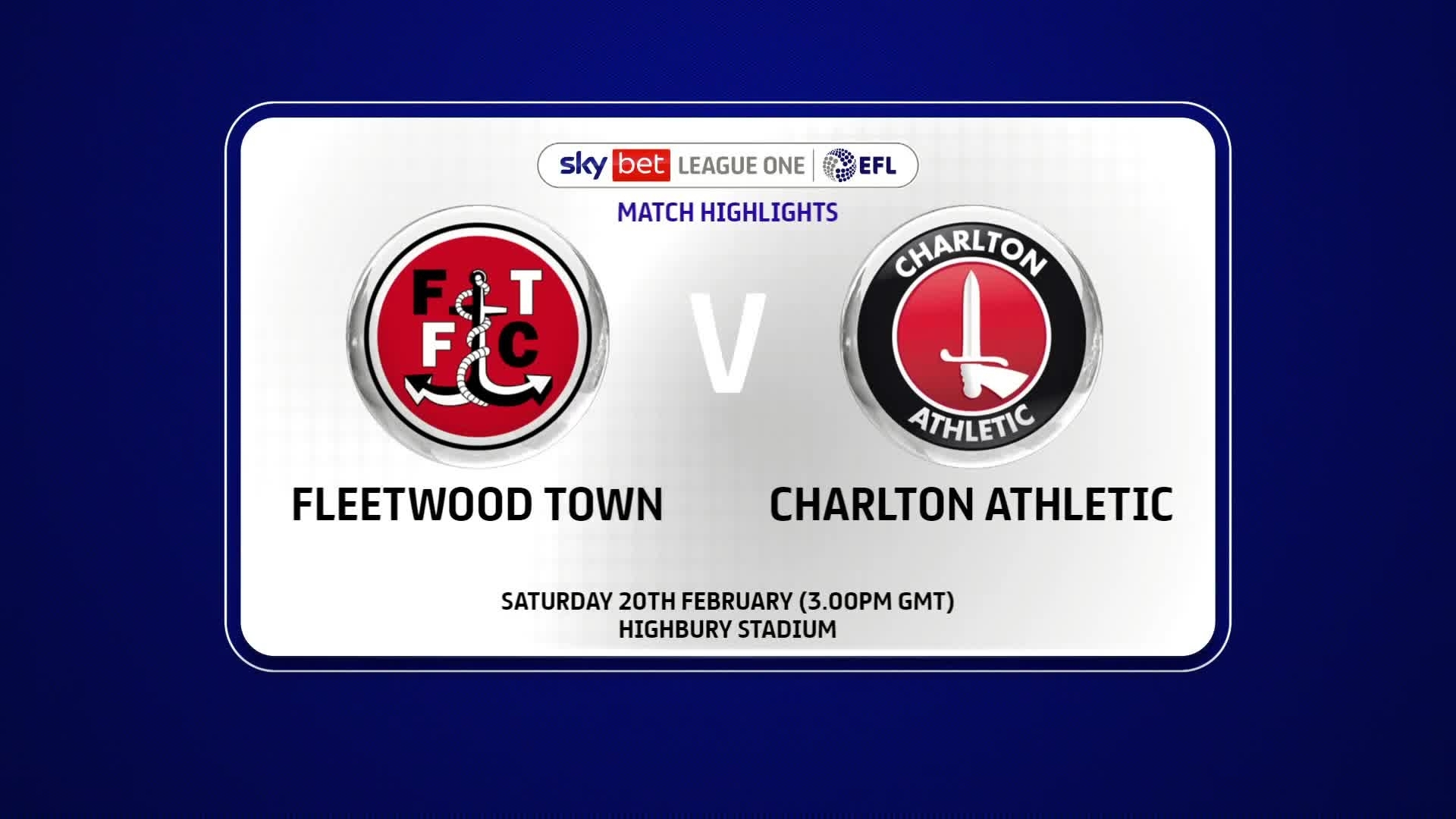HIGHLIGHTS | Fleetwood Town 1 Charlton 1 (February 2021)