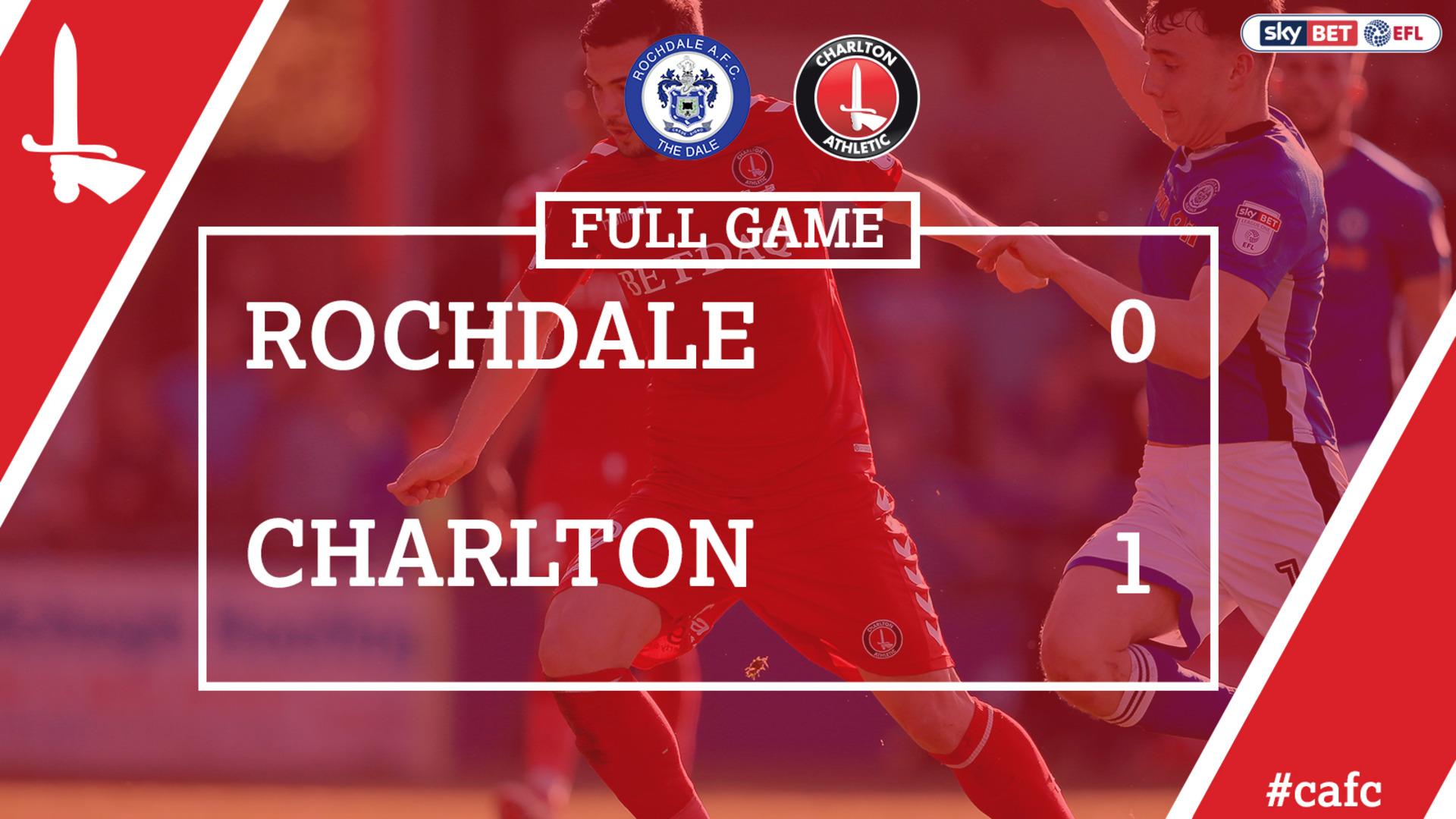 FULL GAME | Rochdale 1 Charlton 0 (May 2018)