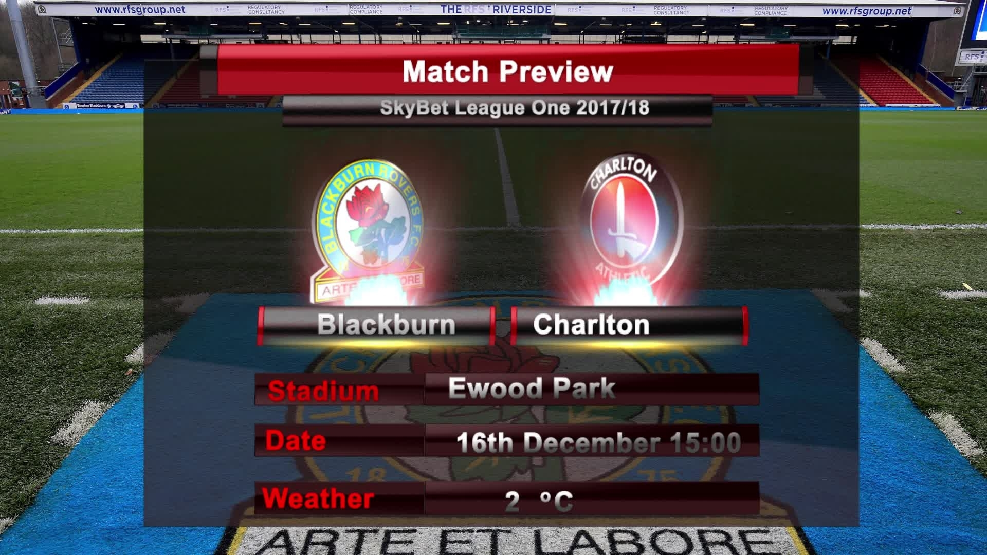 MATCH PREVIEW | Blackburn vs Charlton