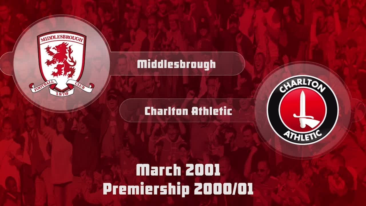 34 HIGHLIGHTS | Middlesbrough 0 Charlton 0 (Mar 2001)