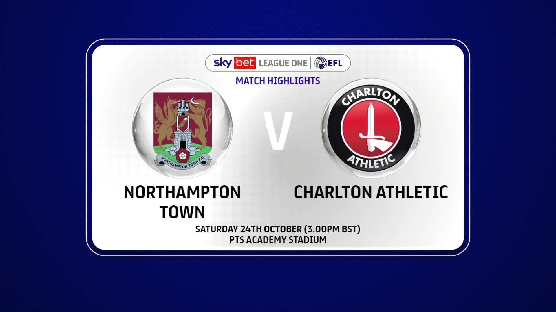 HIGHLIGHTS | Northampton 0 Charlton 2 (October 2020)