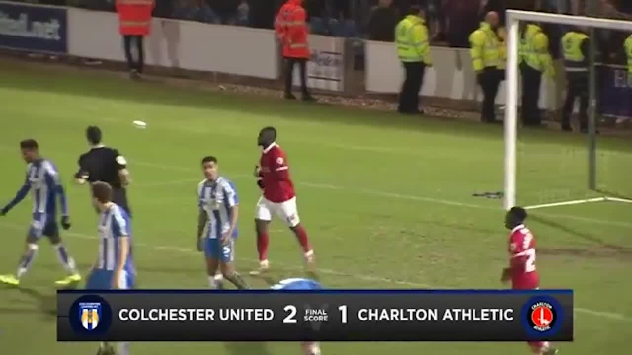29 HIGHLIGHTS    Colchester 2 Charlton 1 (FA Cup Jan 2016)