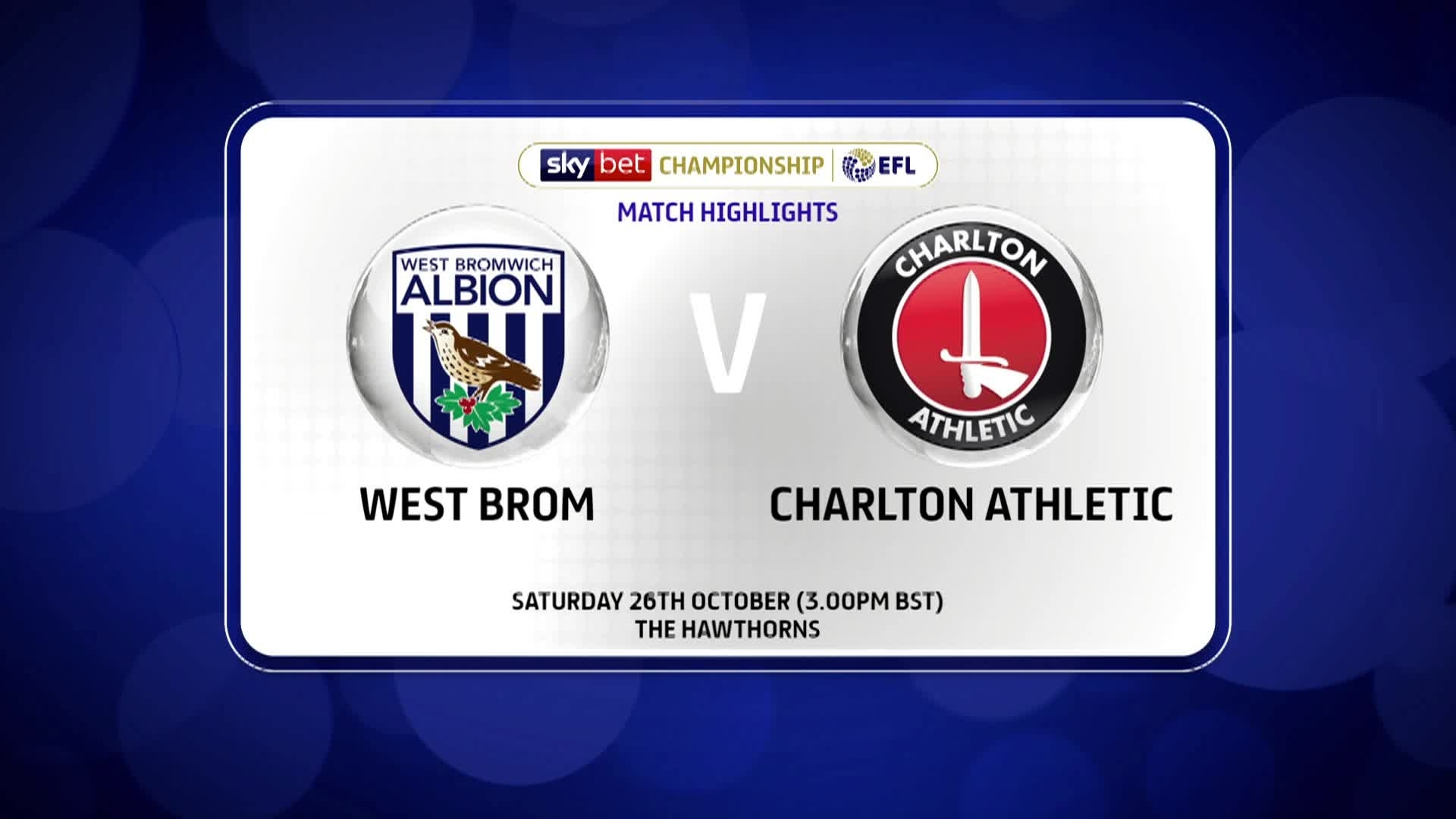 GOALS | West Bromwich Albion 2 Charlton 2 (October 2019)
