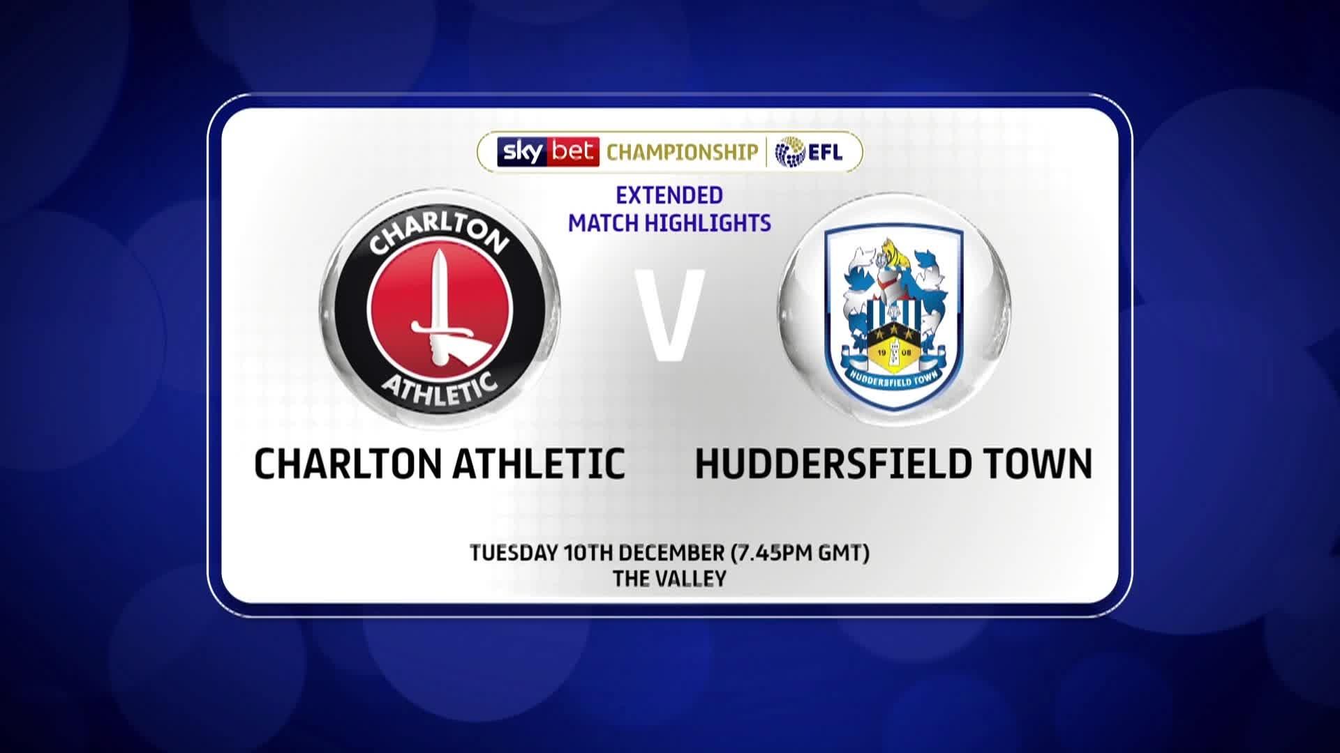 21 HIGHLIGHTS   Charlton 0 Huddersfield Town 1 (December 2019)