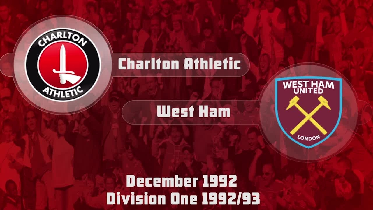 27 HIGHLIGHTS | Charlton 1 West Ham 1 (Dec 1992)-