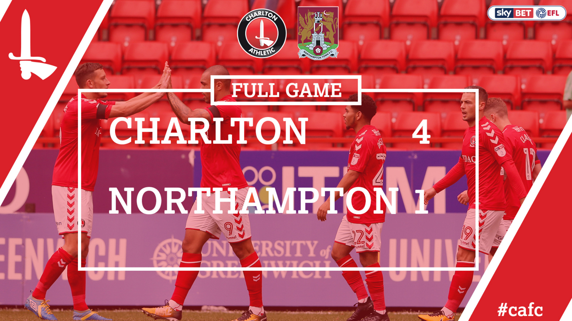 FULL GAME | Charlton 4 Northampton 1 (Aug 2017)