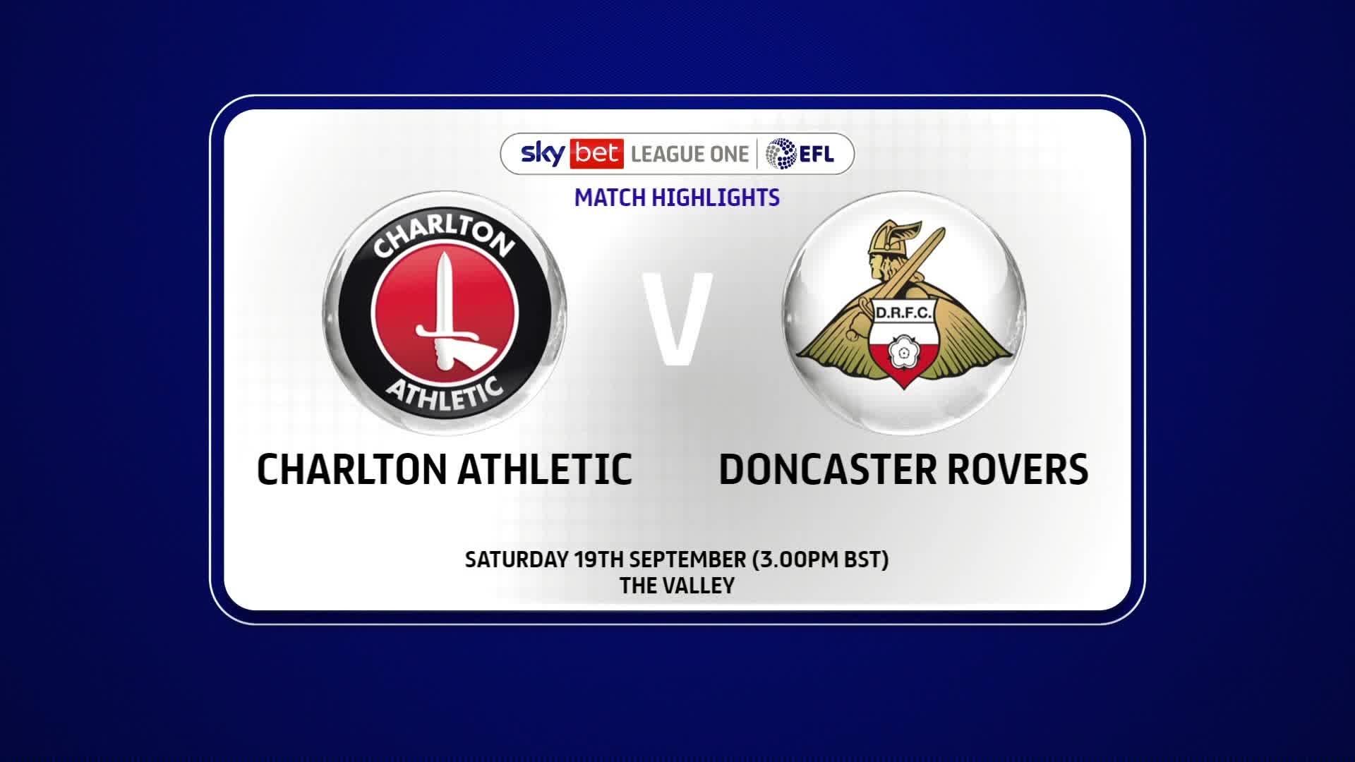 HIGHLIGHTS | Doncaster 3 Charlton 1 (September 2020)