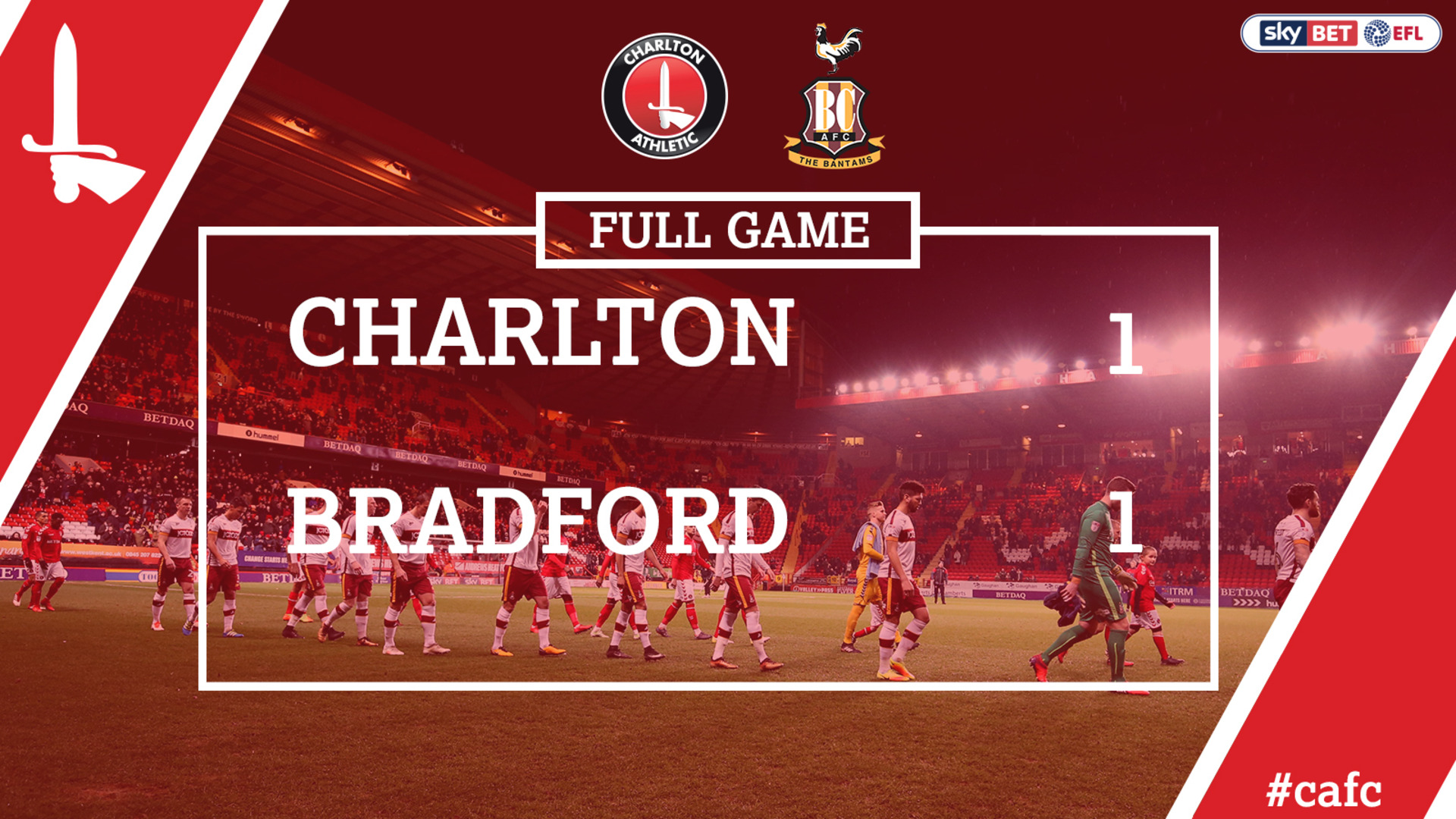 FULL GAME | Charlton 1 Bradford 1 (Feb 2018)
