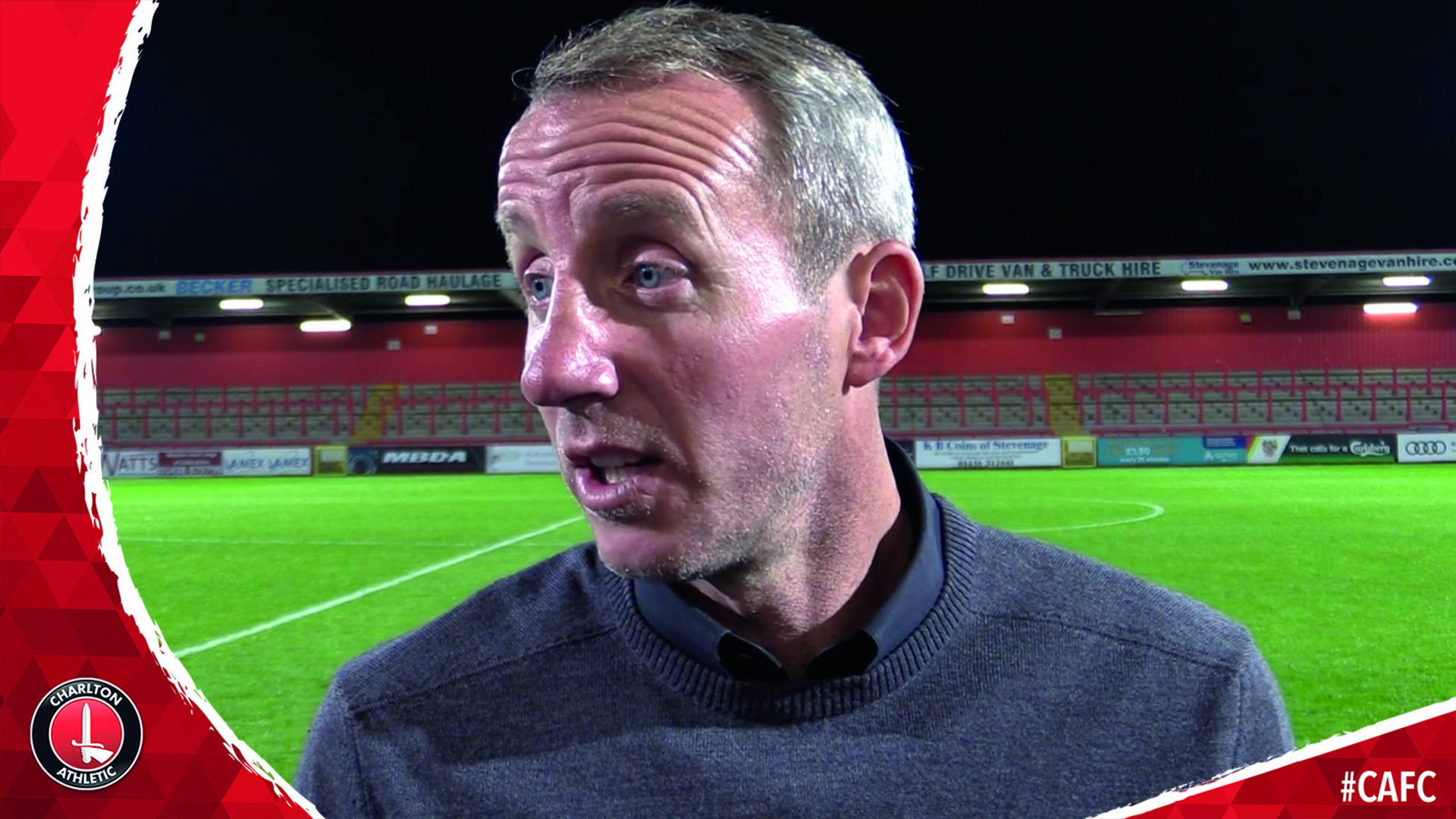 Bowyer hails his players following Charlton's club-record 8-0 win at Stevenage