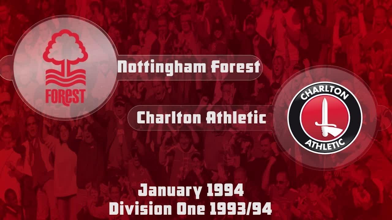32 HIGHLIGHTS   Nottingham Forest 1 Charlton 1 (Jan 1994)