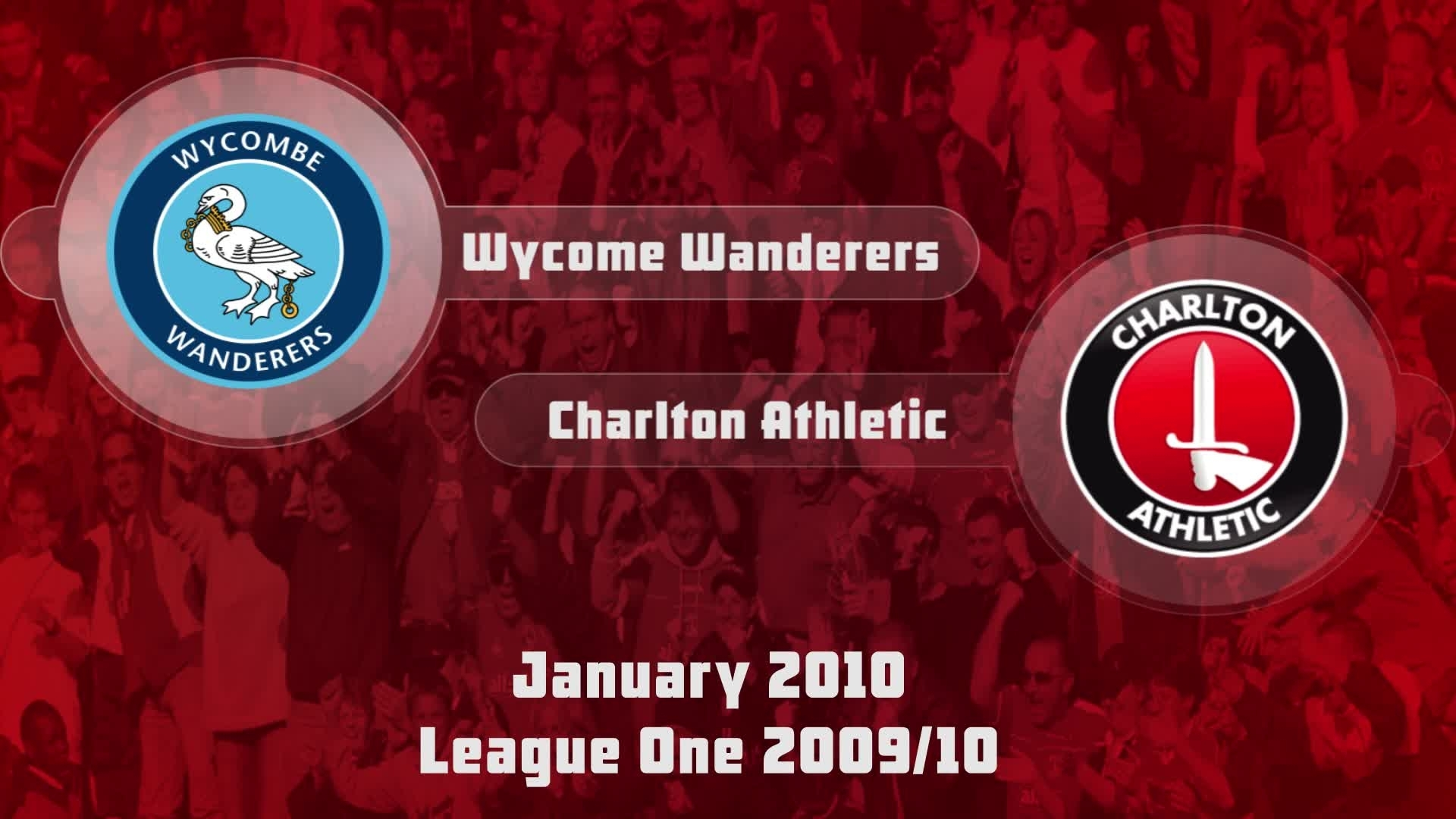 29 HIGHLIGHTS | Wycombe 1 Charlton 2 (Jan 2010)