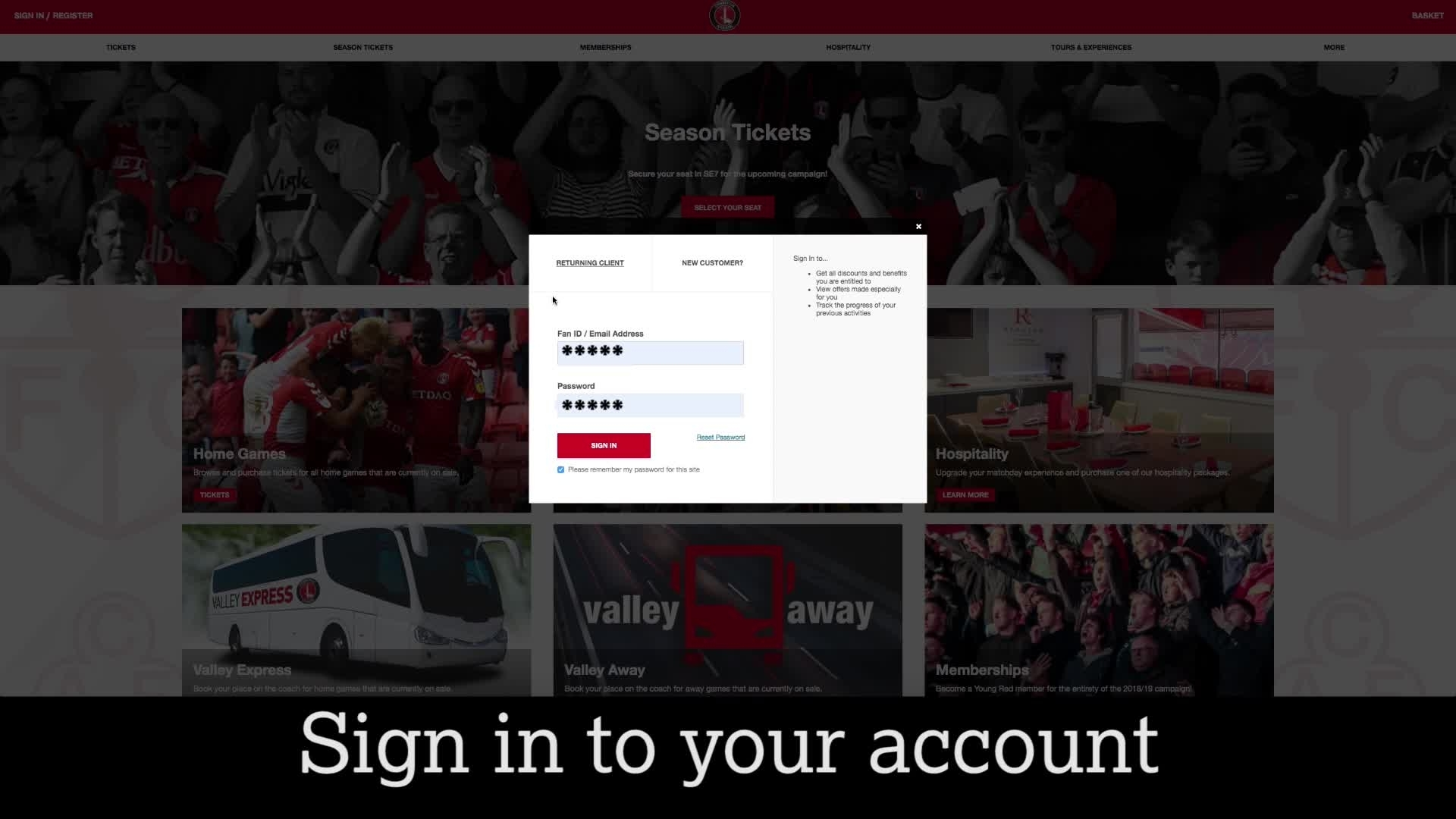 Buying play-off tickets | How to add friends to your account