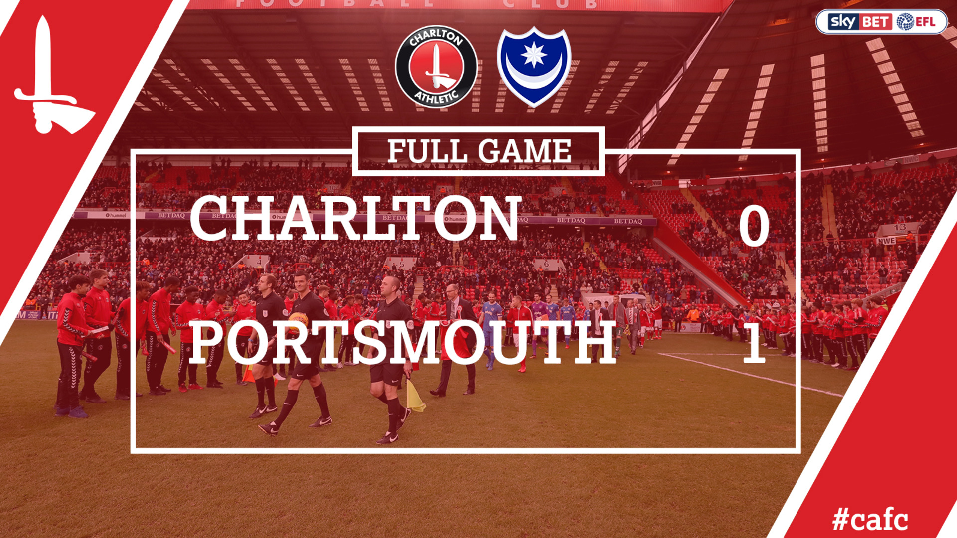 FULL GAME | Charlton 0 Portsmouth 1 (Dec 2017)