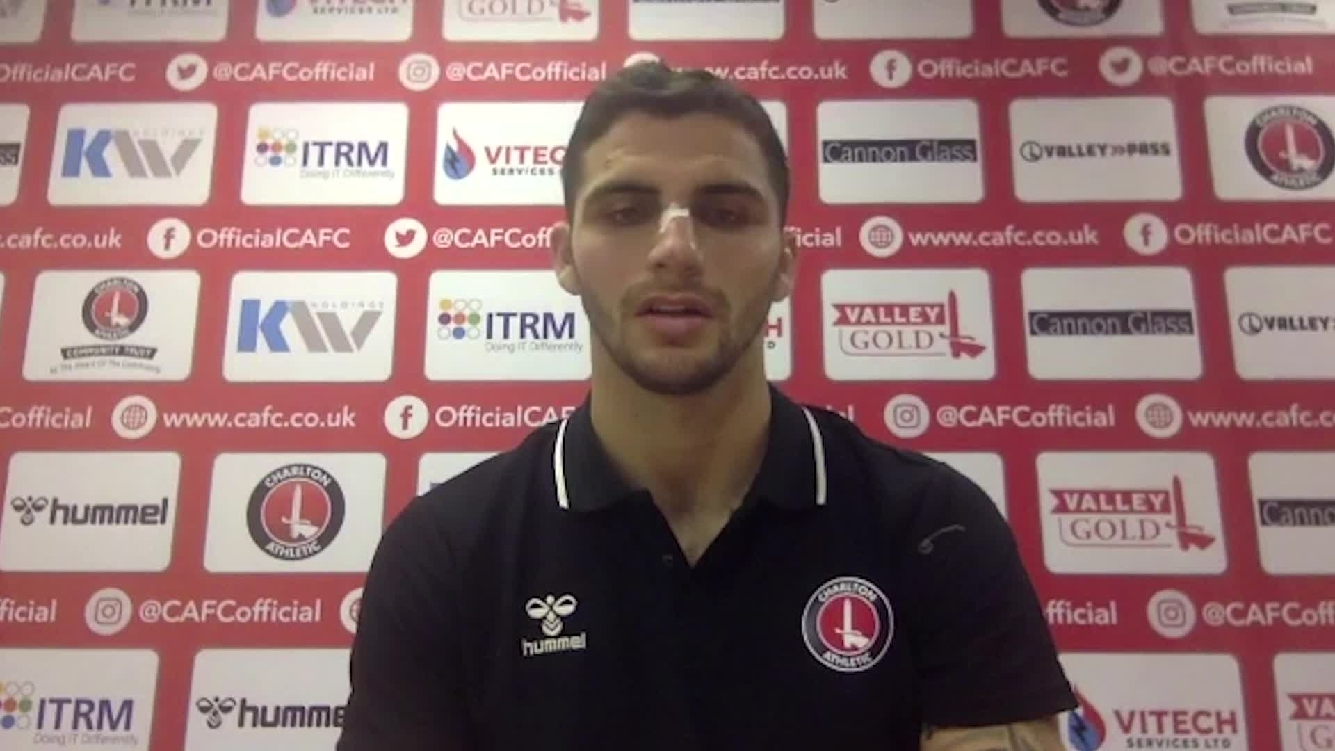 Ryan Inniss spoke to the press after his winning debut (October 2020)
