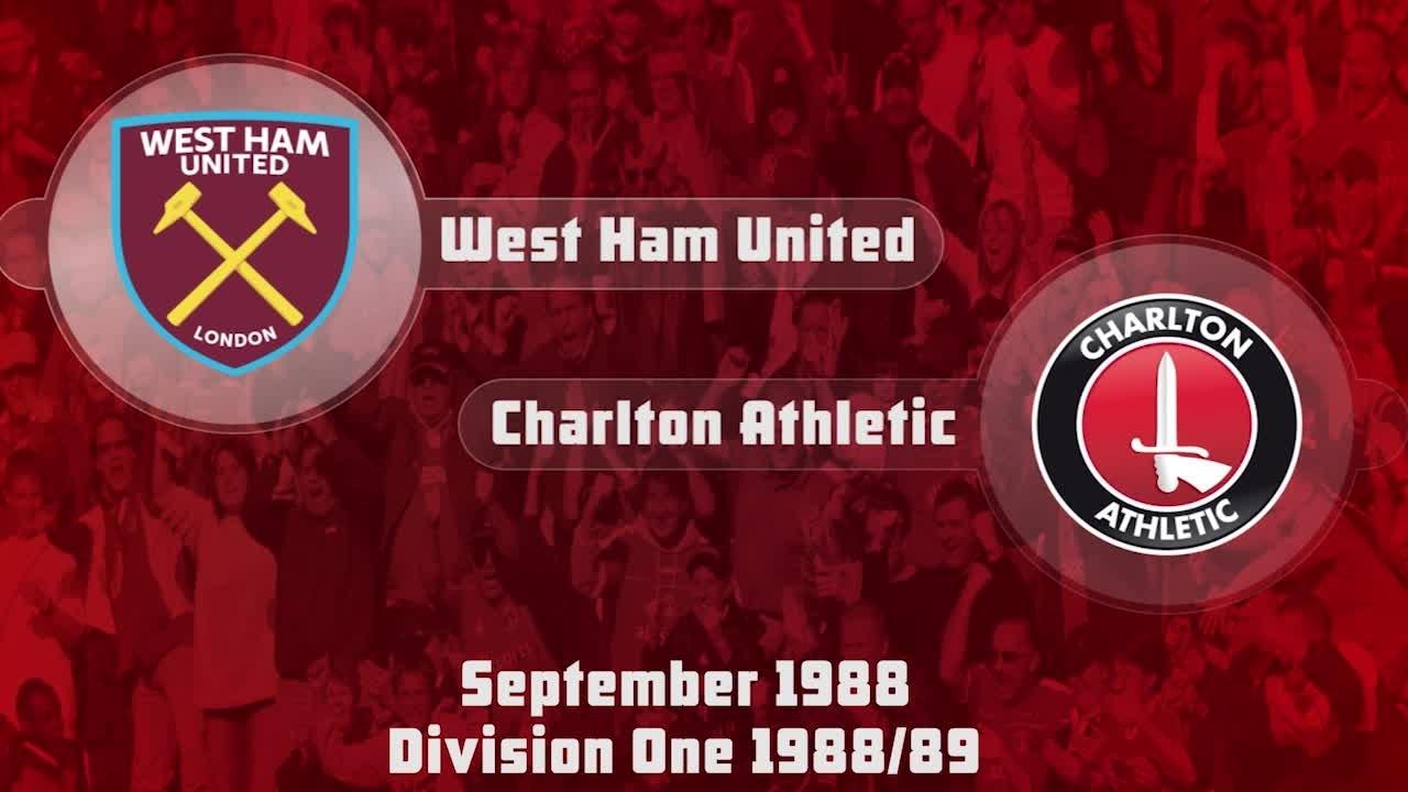 02 HIGHLIGHTS | West Ham 1 Charlton 3 (Sept 1988)