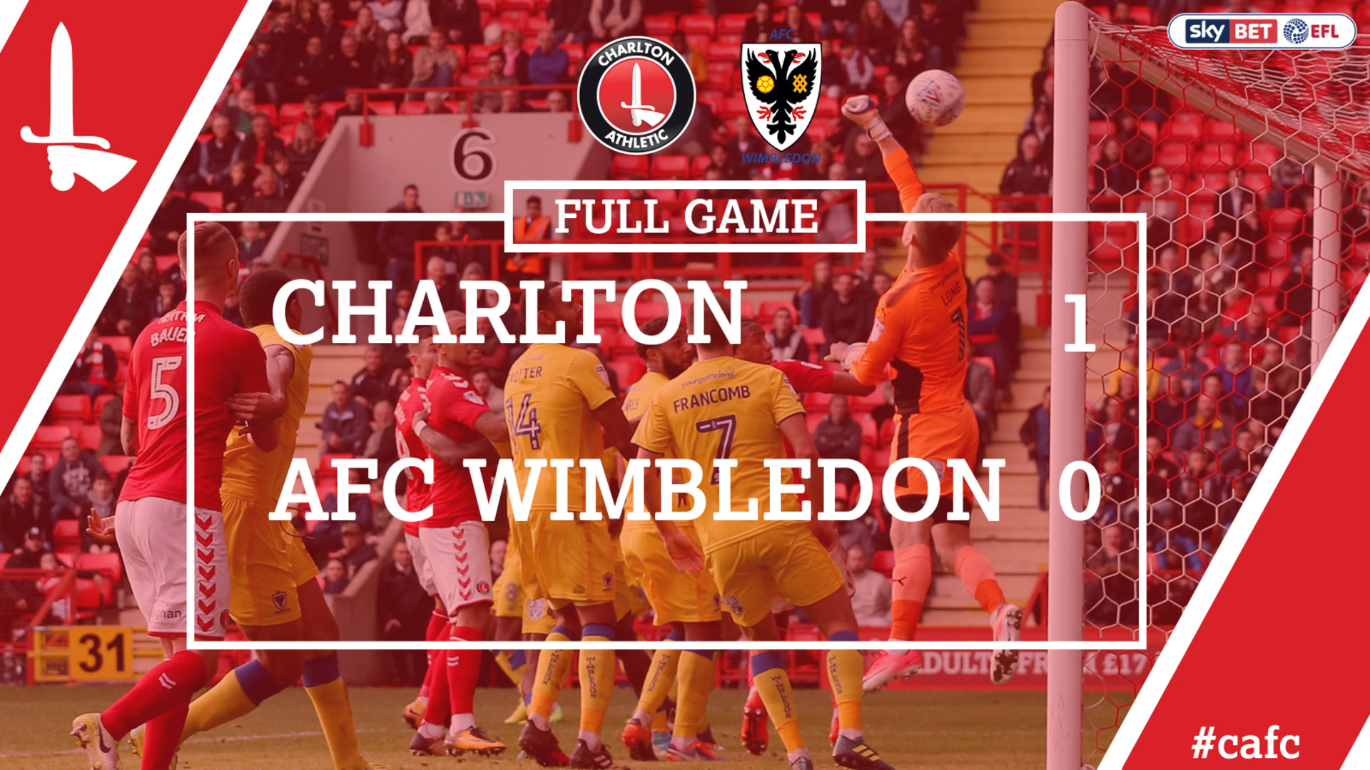 FULL GAME | Charlton 1 AFC Wimbledon 0