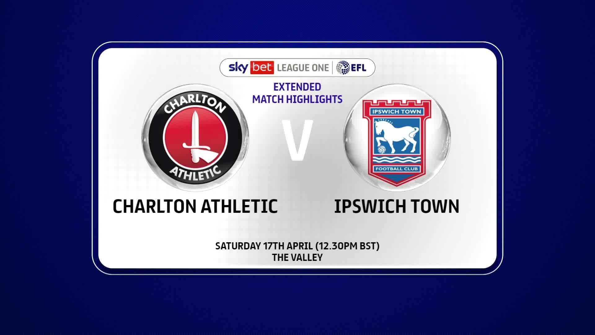 EXTENDED | Charlton 0 Ipswich Town 0 (April 2021)