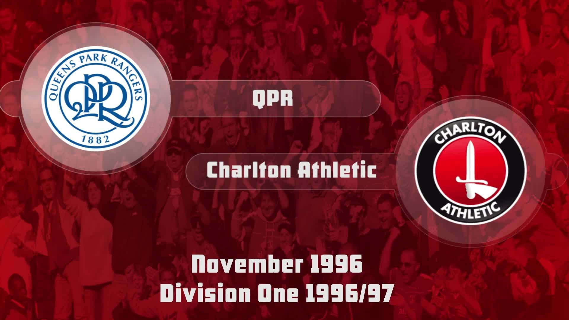 19 HIGHLIGHTS  | QPR 1 Charlton 2 (Nov 1996)