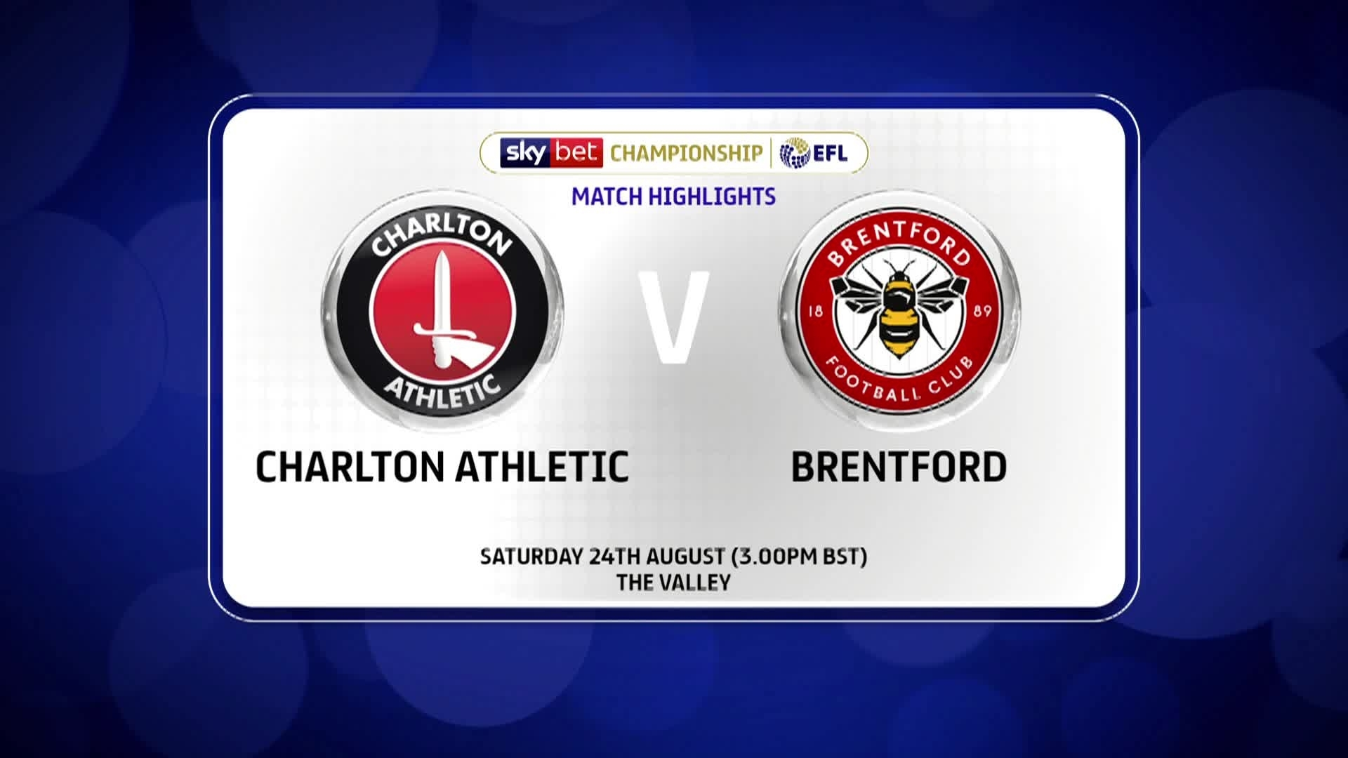 GOALS | Charlton 1 Brentford 0 (August 2019)
