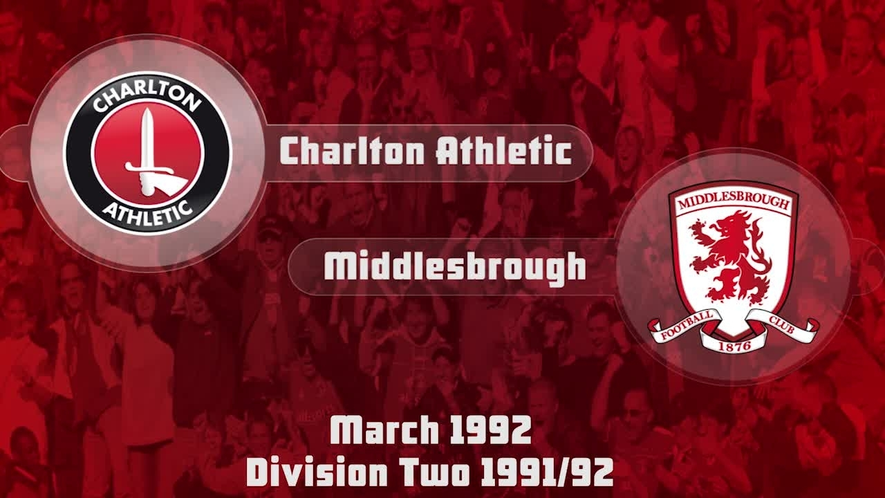 46 HIGHLIGHTS | Charlton 0 Middlesbrough 0 (March 1992)