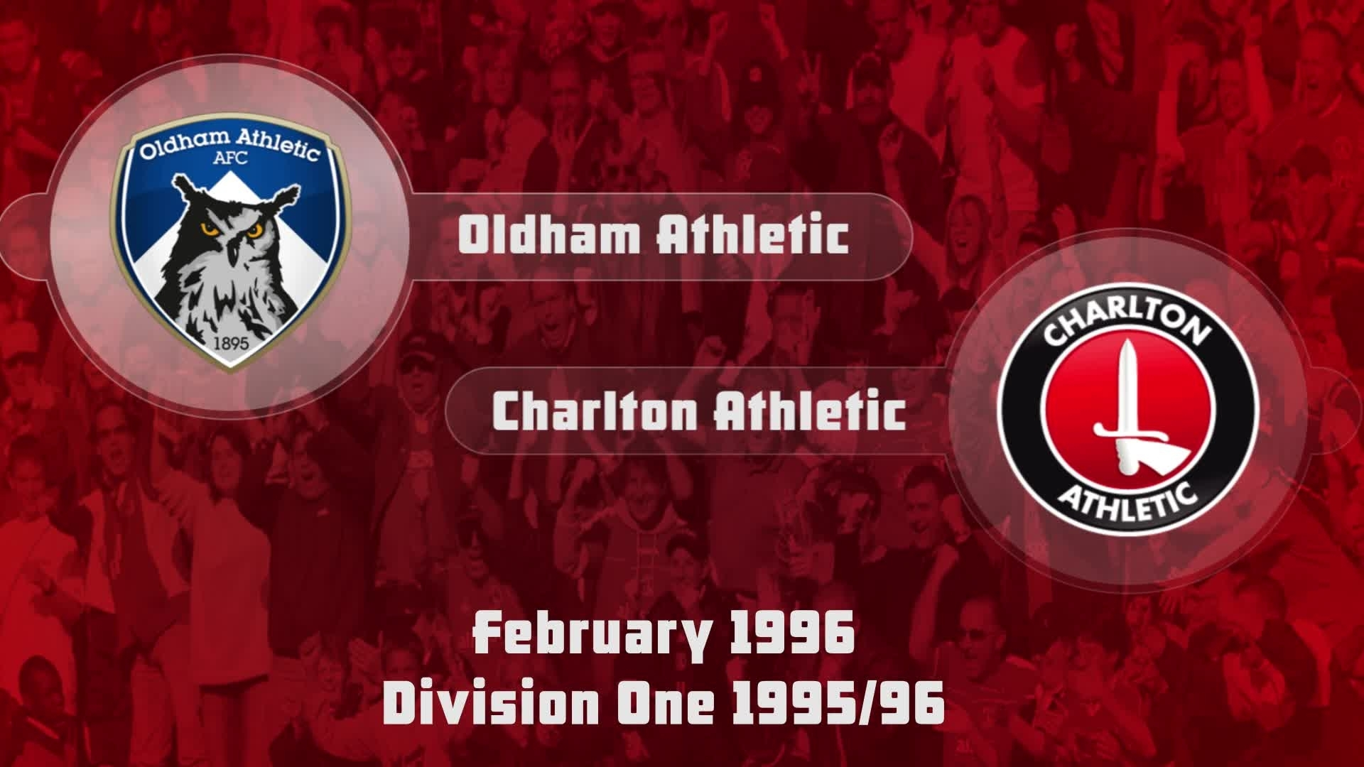 39 HIGHLIGHTS | Oldham 1 Charlton 1 (Feb 1996)