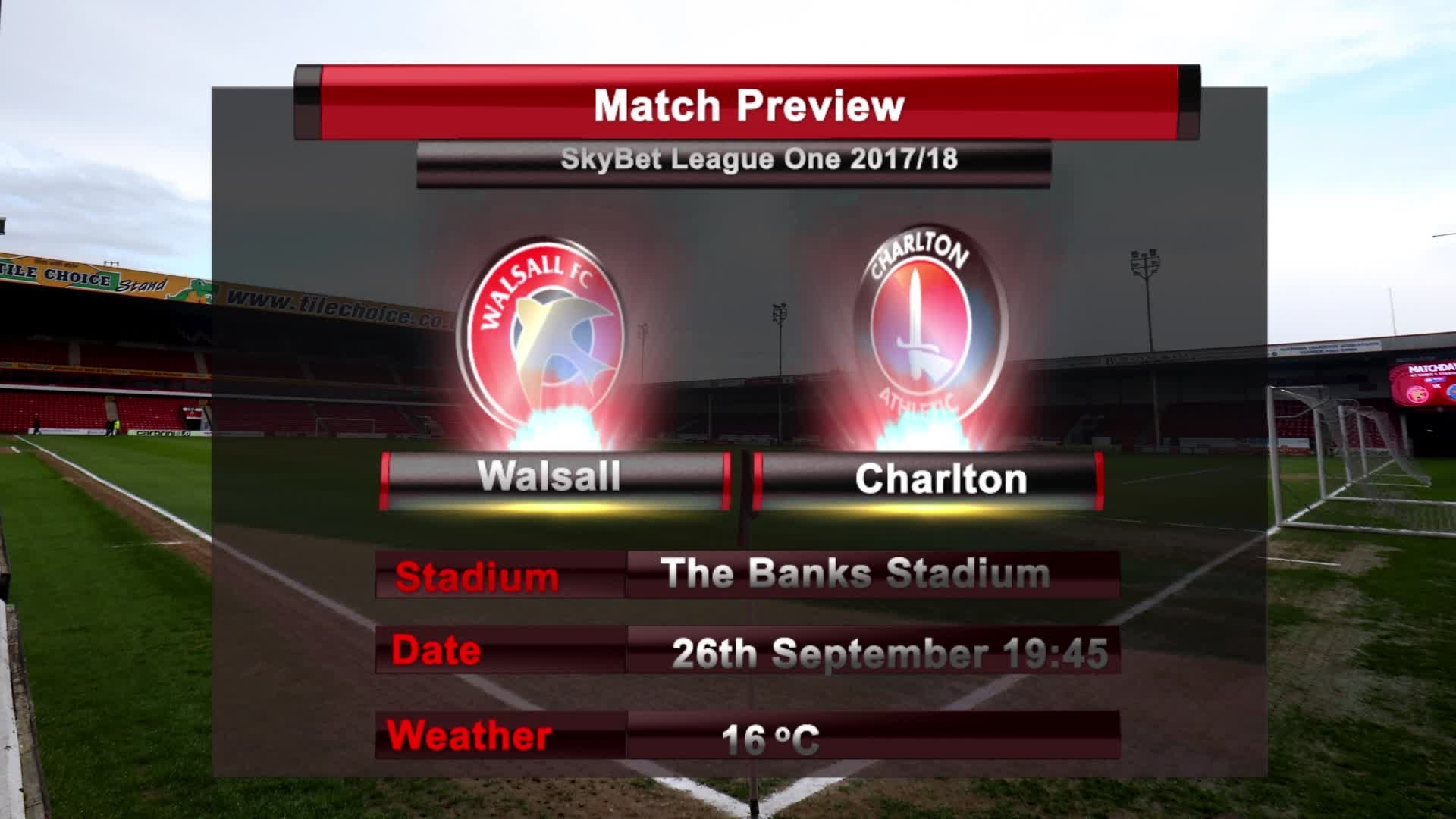 MATCH PREVIEW | Walsall vs Charlton