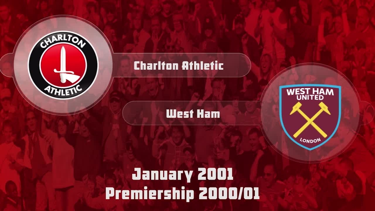 27 HIGHLIGHTS | Charlton 1 West Ham 1 (Jan 2001)