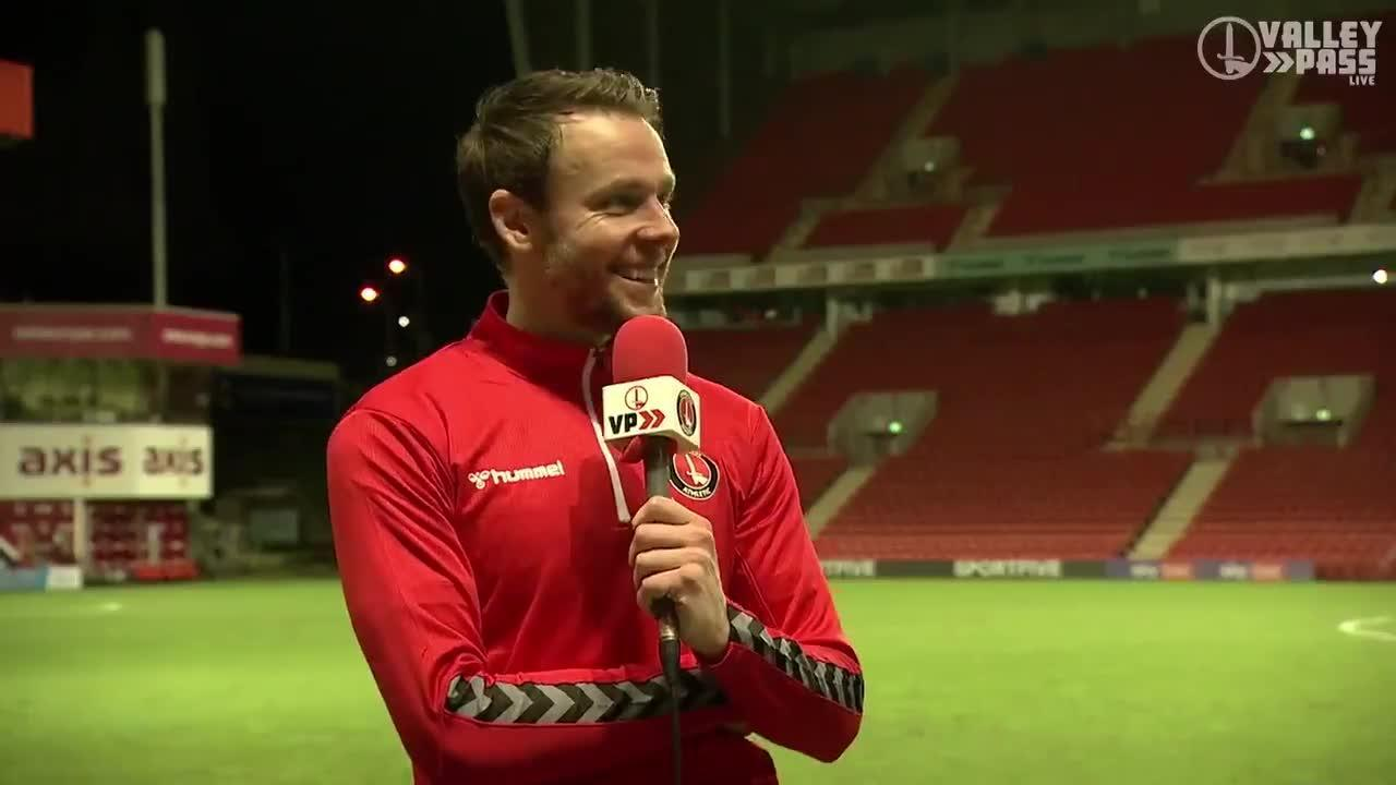 Chris Gunter speaks to Valley Pass Live after his first Charlton goal (December 2020)