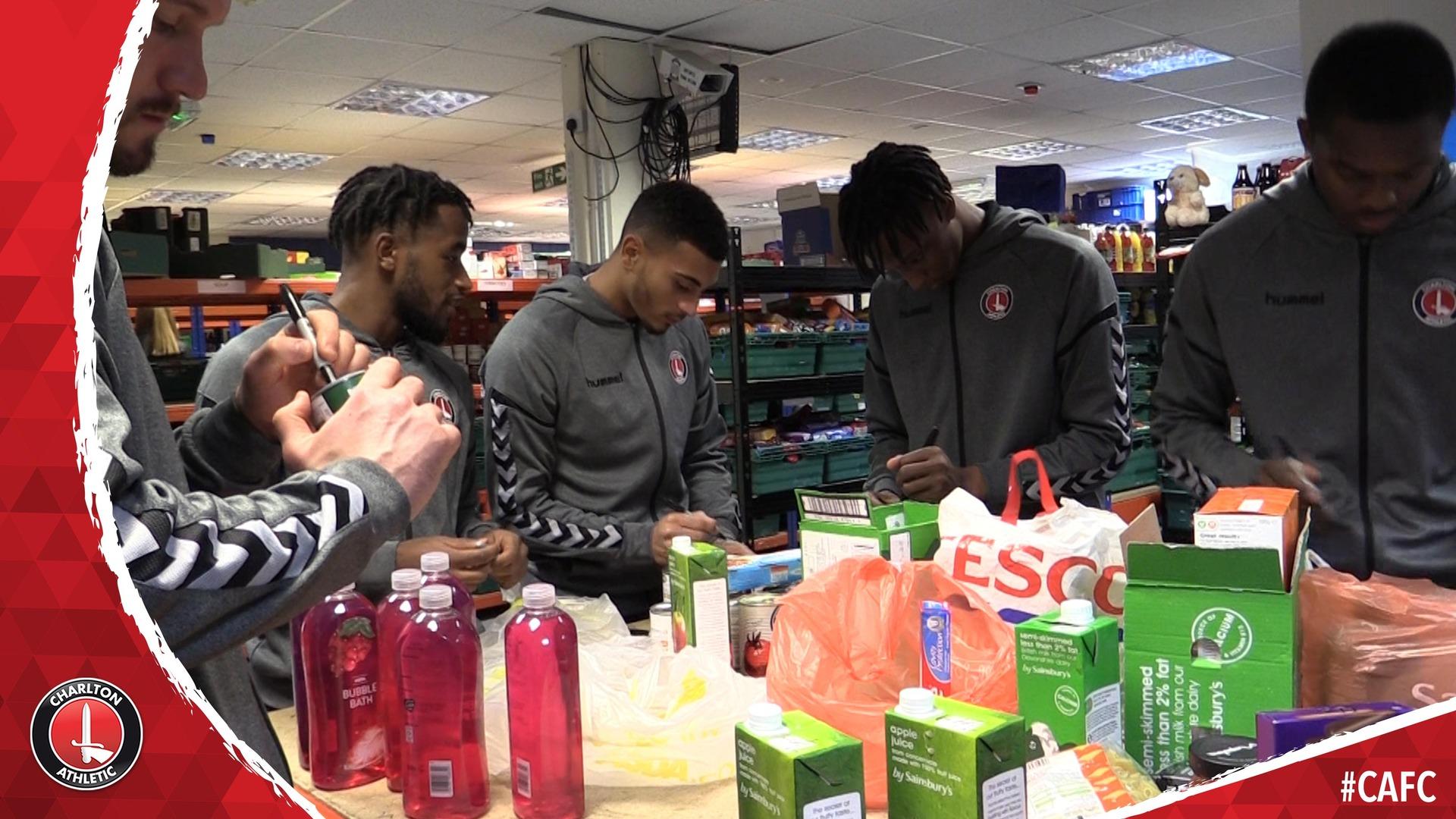 Charlton stars visit Greenwich Foodbank