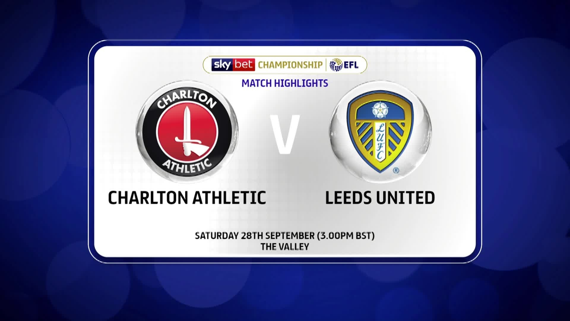 GOALS | Charlton 1 Leeds United 0 (September 2019)