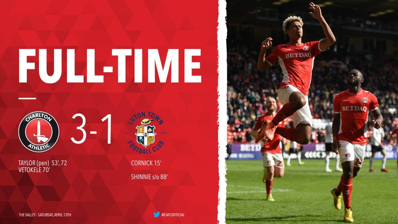 49 HIGHLIGHTS | Charlton 3 Luton Town 1 (April 2019)